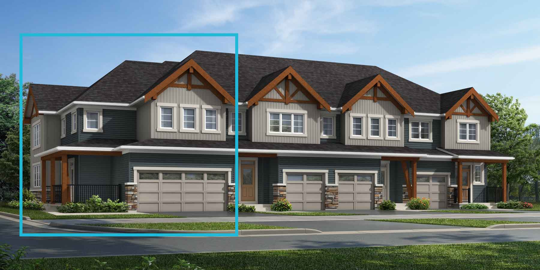 Apollo Corner Plan TownHomes at Carrington in Calgary Alberta by Mattamy Homes