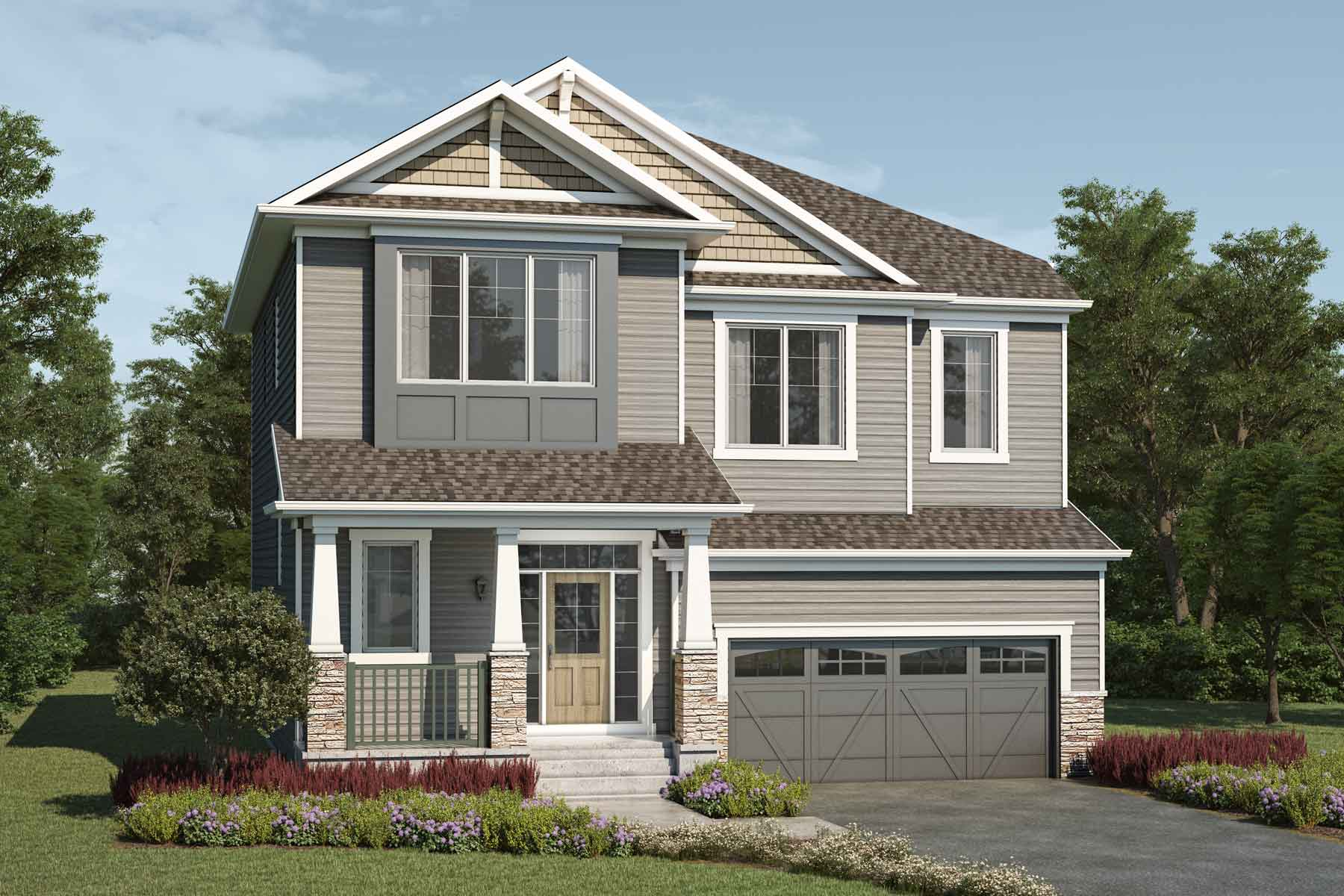 Armstrong Plan Elevation Front at Carrington in Calgary Alberta by Mattamy Homes