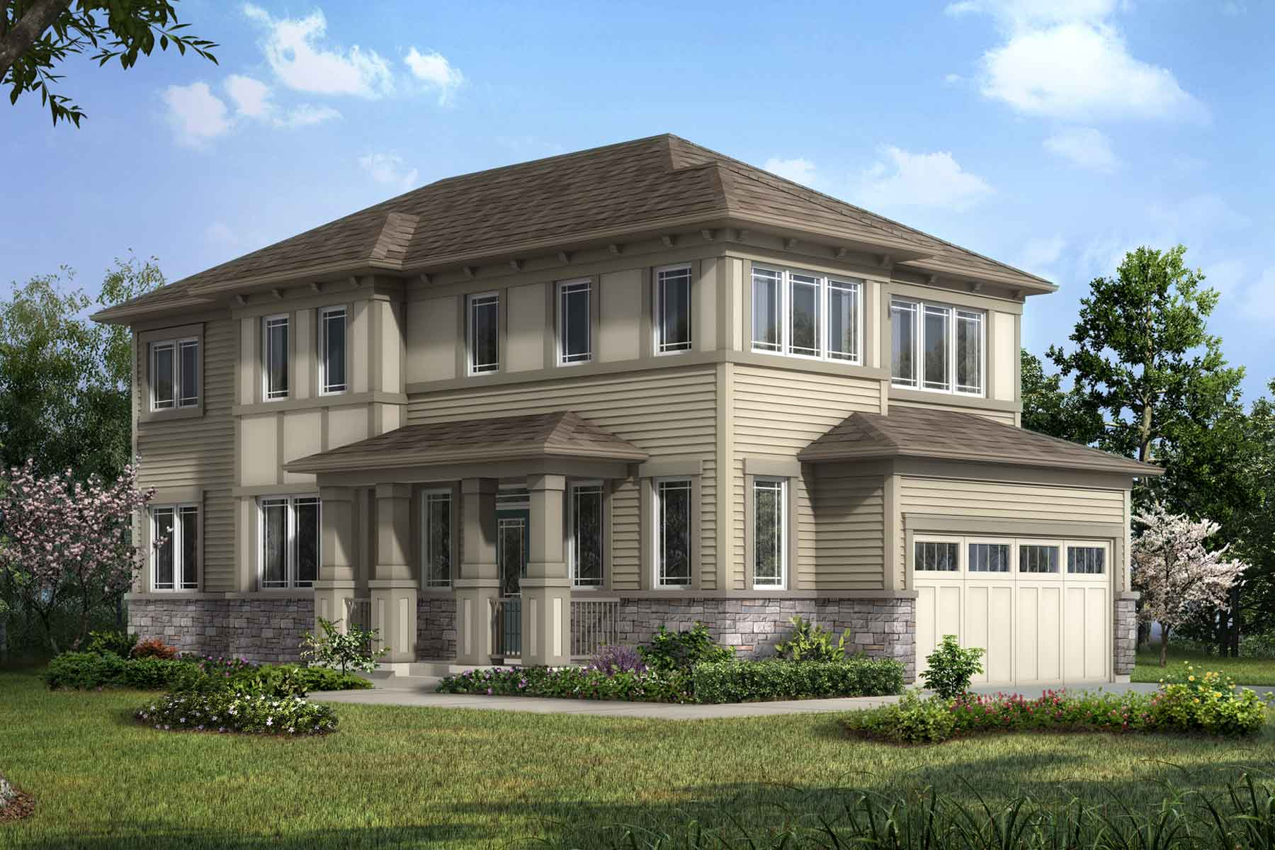 Berkley Corner Plan elevationprairie_carrington_berkleycorner at Carrington in Calgary Alberta by Mattamy Homes