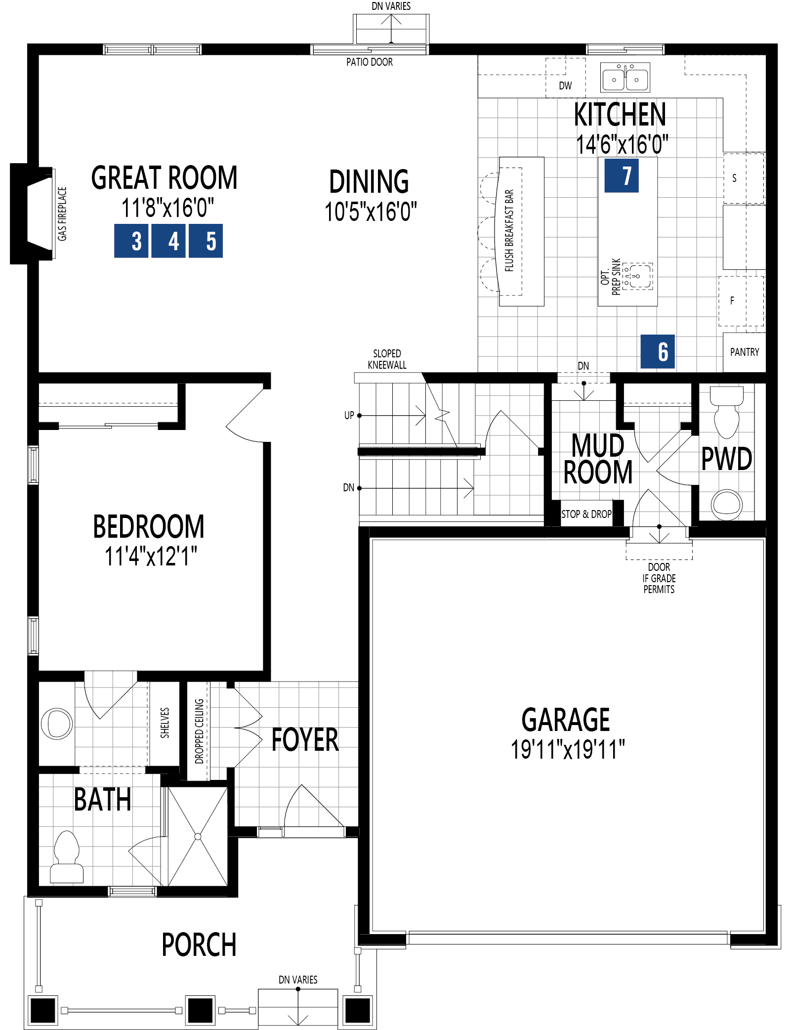Bishop Plan Floor Plan at Carrington in Calgary Alberta by Mattamy Homes