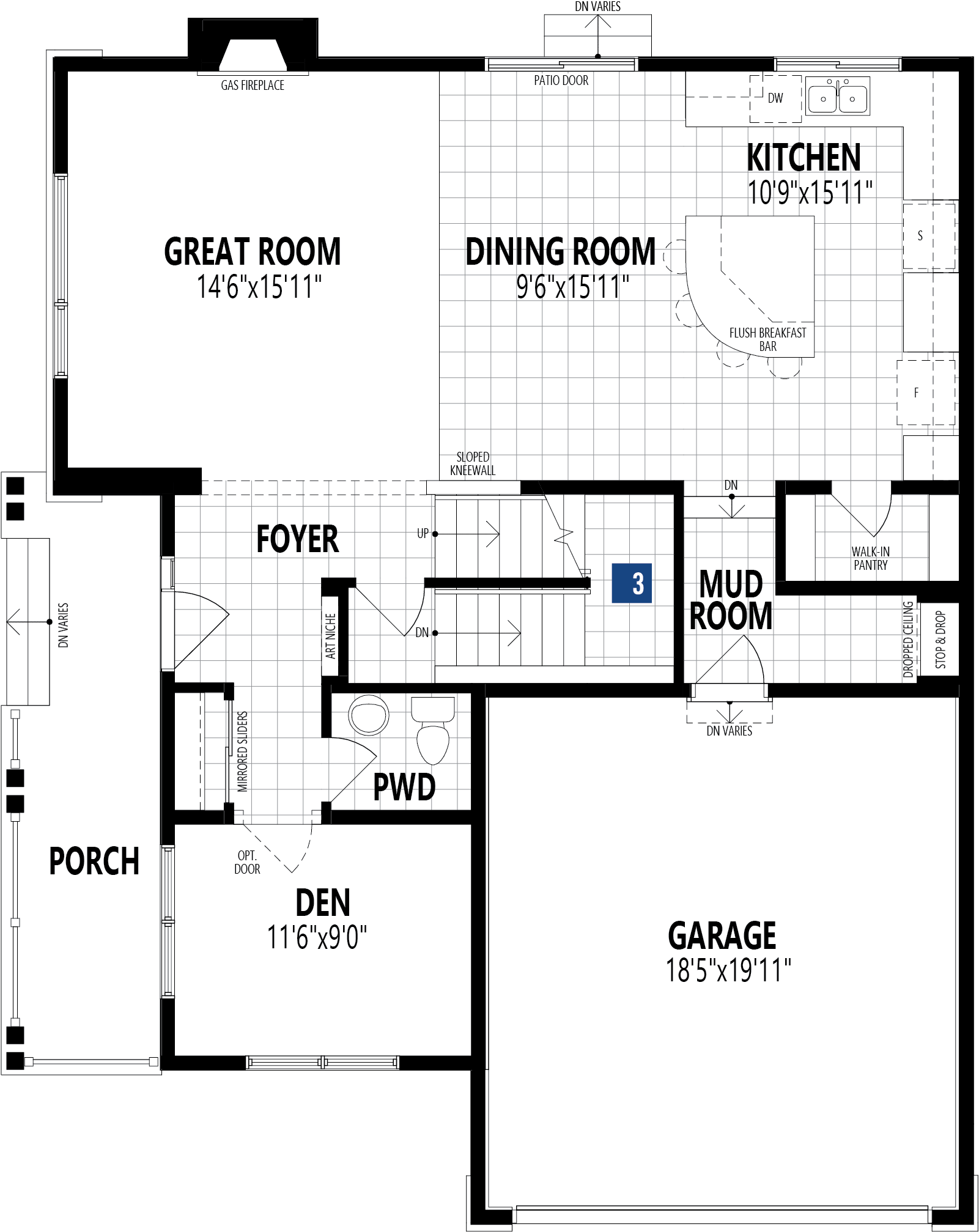 Borgeau Plan Floor Plan at Carrington in Calgary Alberta by Mattamy Homes