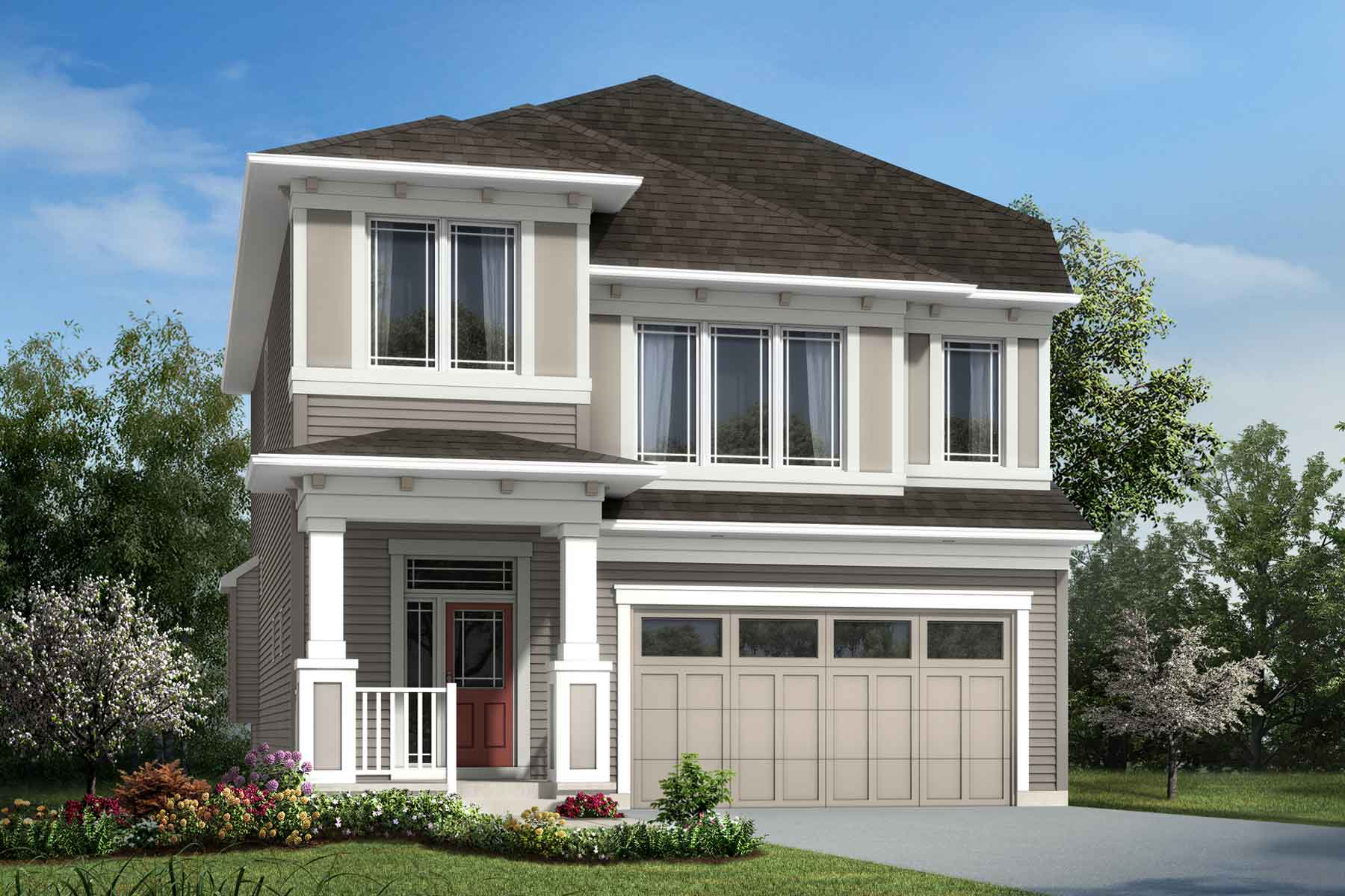 Bradford Plan Elevation Front at The Enclave In Carrington in Calgary Alberta by Mattamy Homes