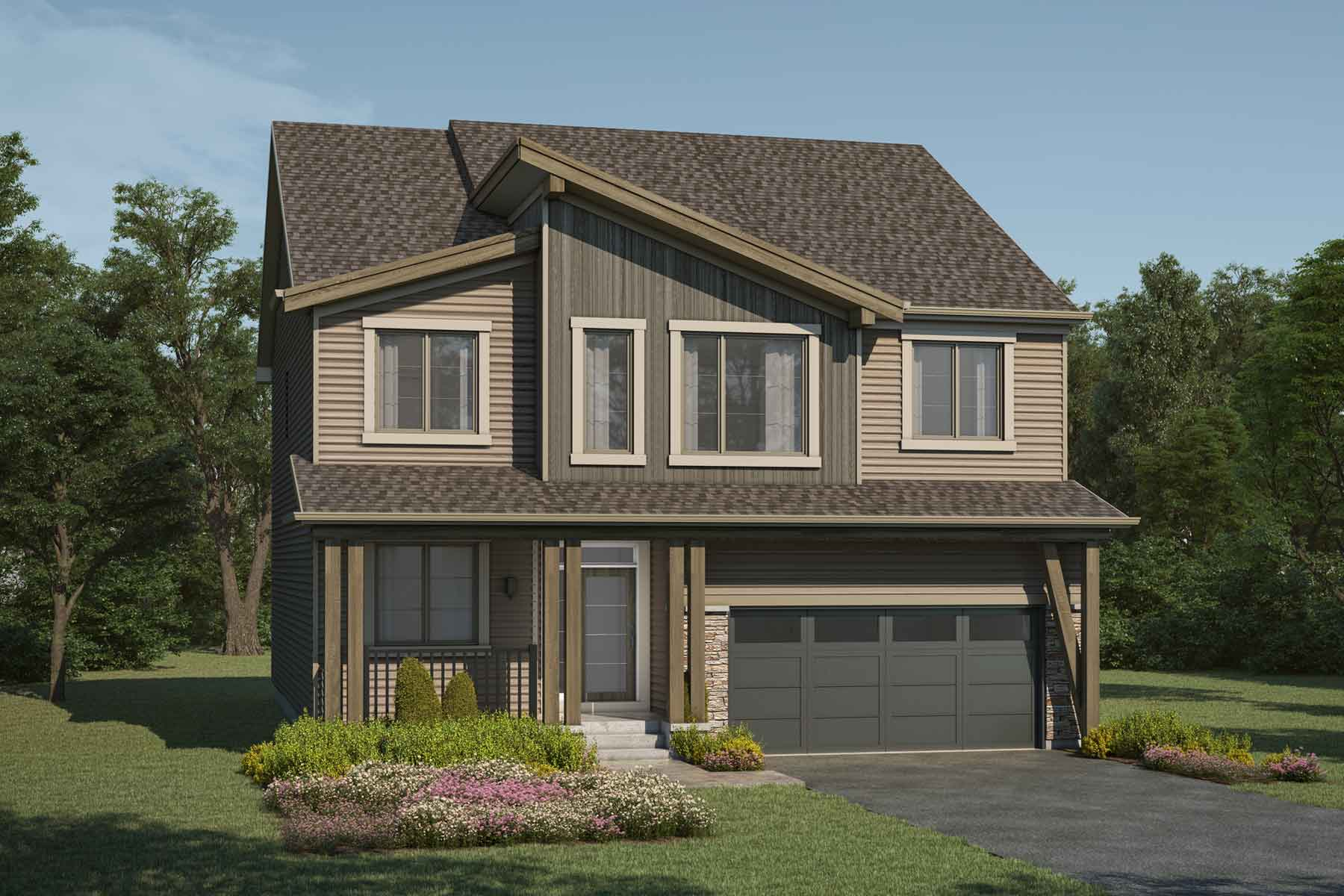 Cline Plan Elevation Front at Carrington in Calgary Alberta by Mattamy Homes