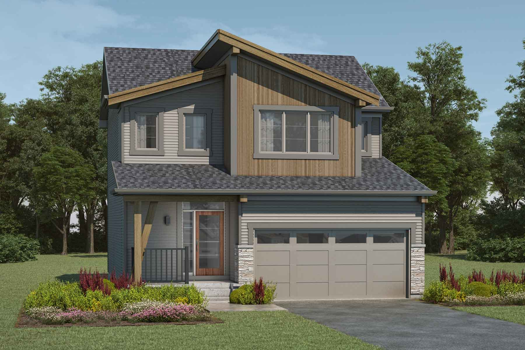 Cypress Plan mountaincontemporary_carrington_cypress at Carrington in Calgary Alberta by Mattamy Homes