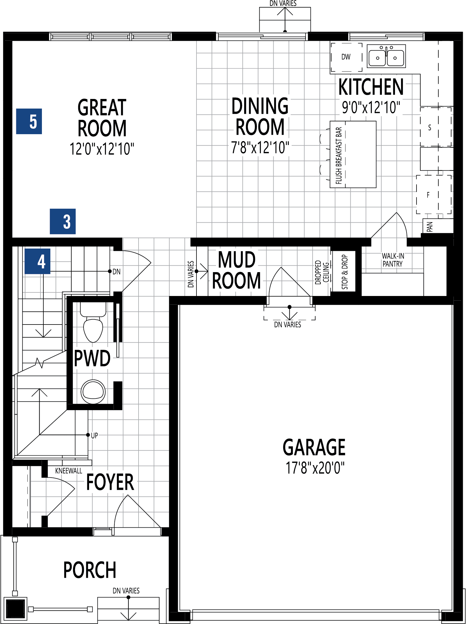 Cypress Plan Floor Plan at Carrington in Calgary Alberta by Mattamy Homes