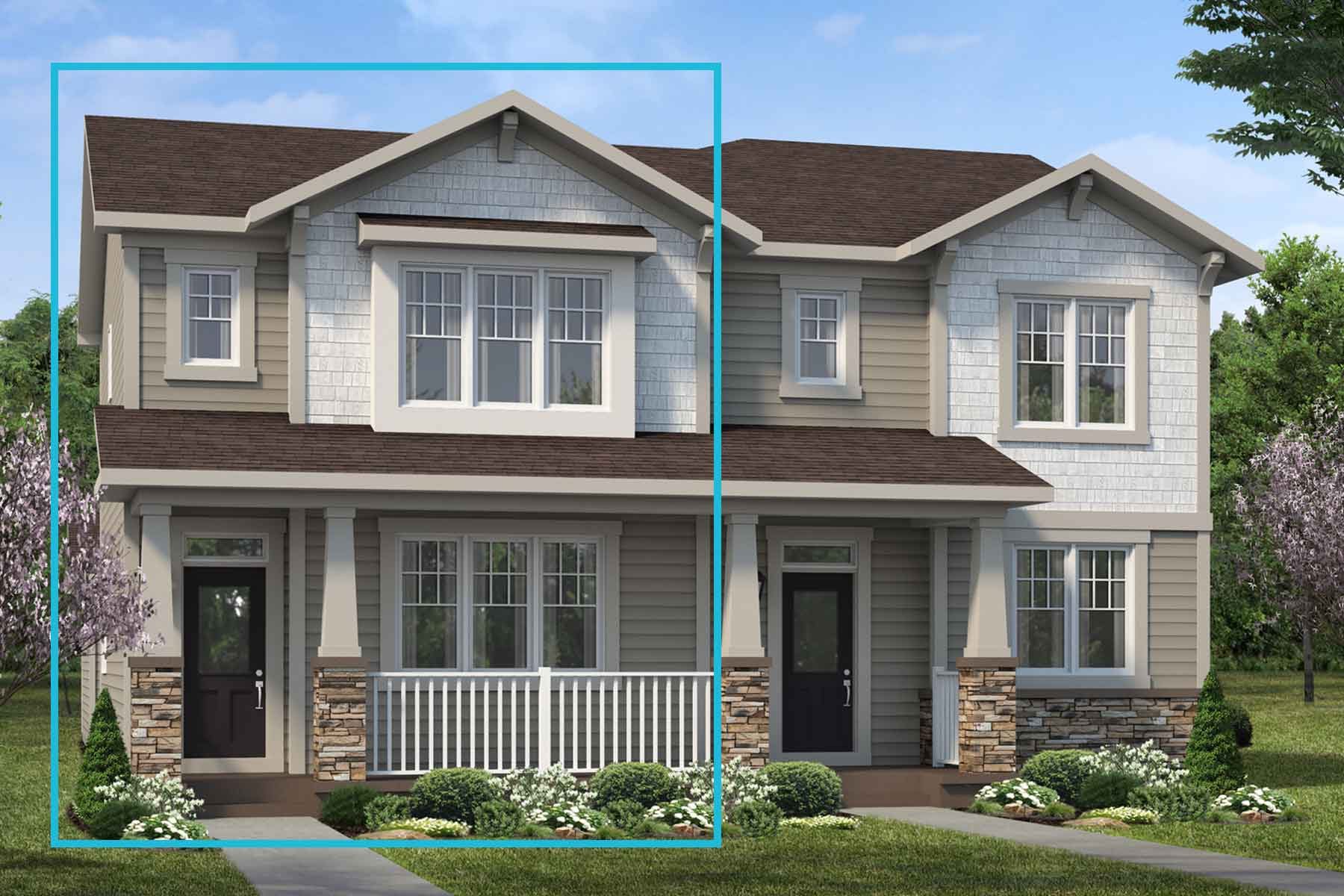 Fairholme Plan Elevation Front at Carrington in Calgary Alberta by Mattamy Homes