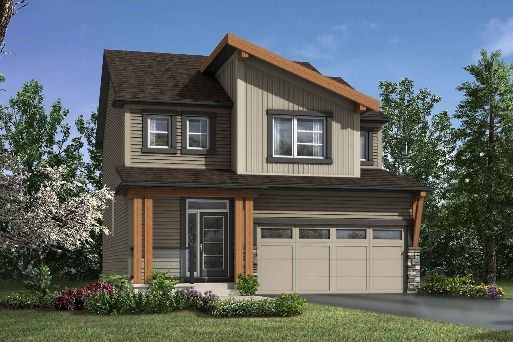 Fairview Plan Elevation Front at Carrington in Calgary Alberta by Mattamy Homes