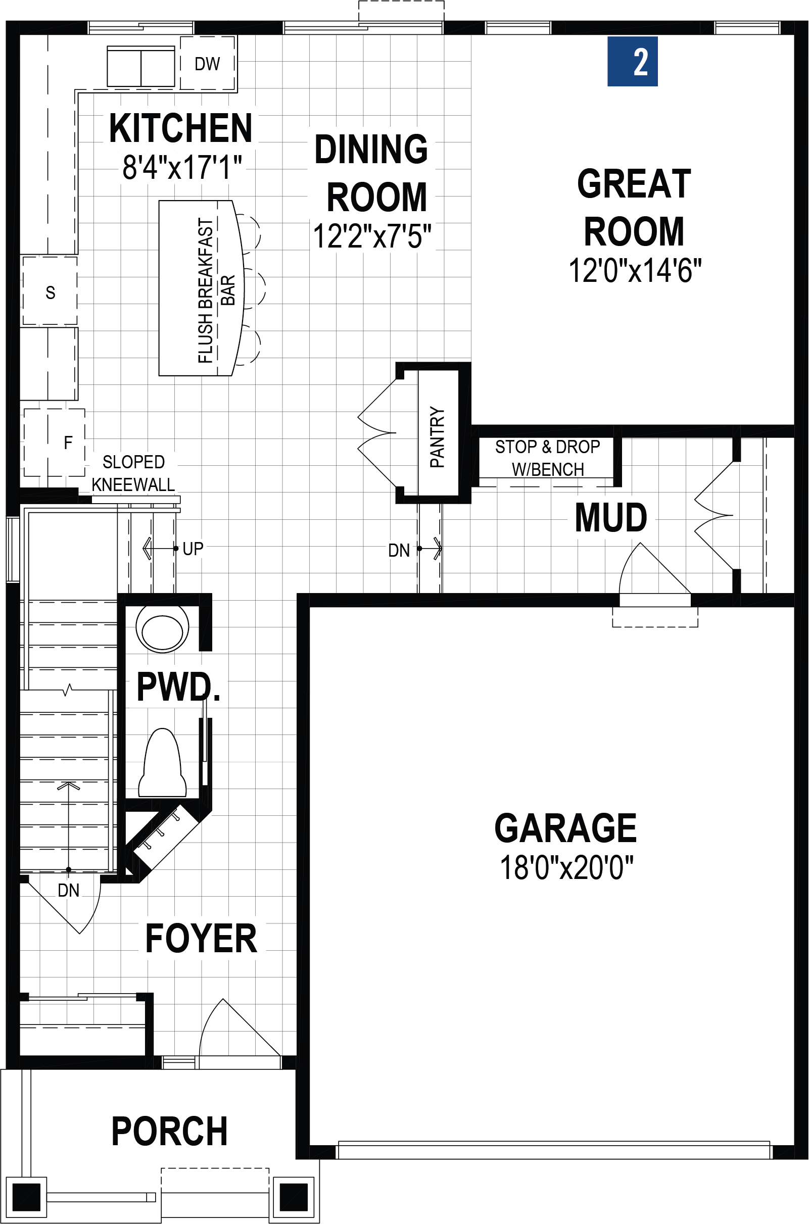 Fairview Plan Floor Plan at Carrington in Calgary Alberta by Mattamy Homes