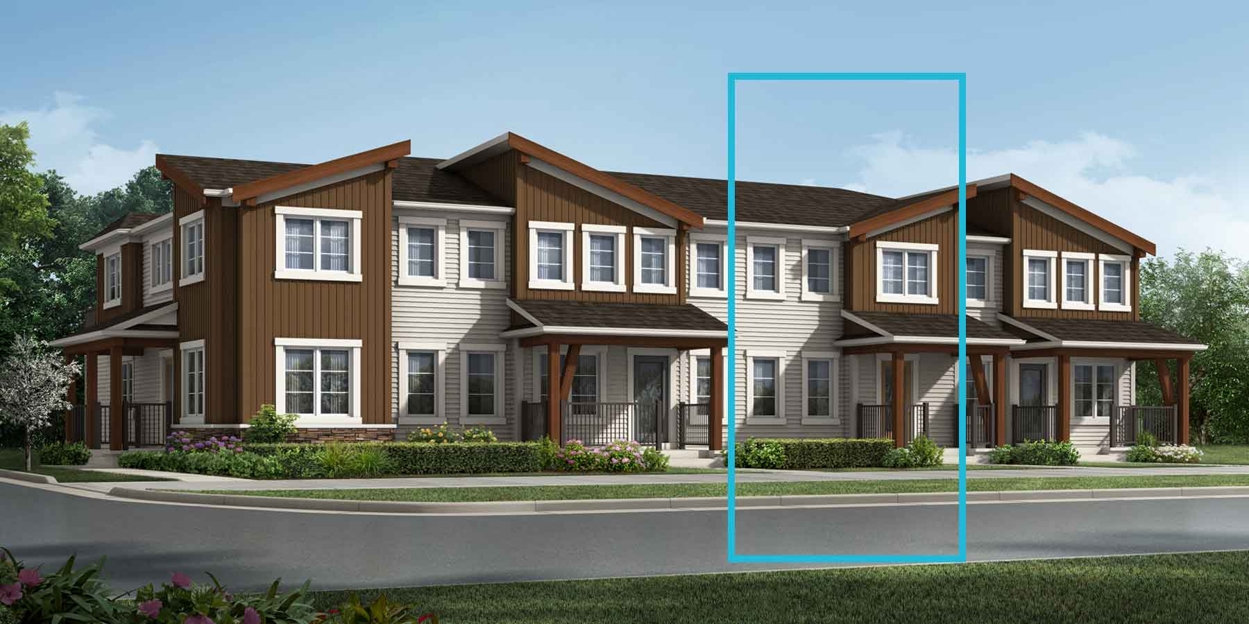 Fisher Plan TownHomes at Carrington in Calgary Alberta by Mattamy Homes