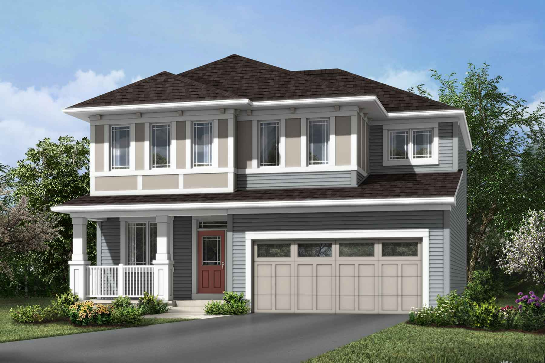 Maclaren Plan Elevation Front at Carrington in Calgary Alberta by Mattamy Homes