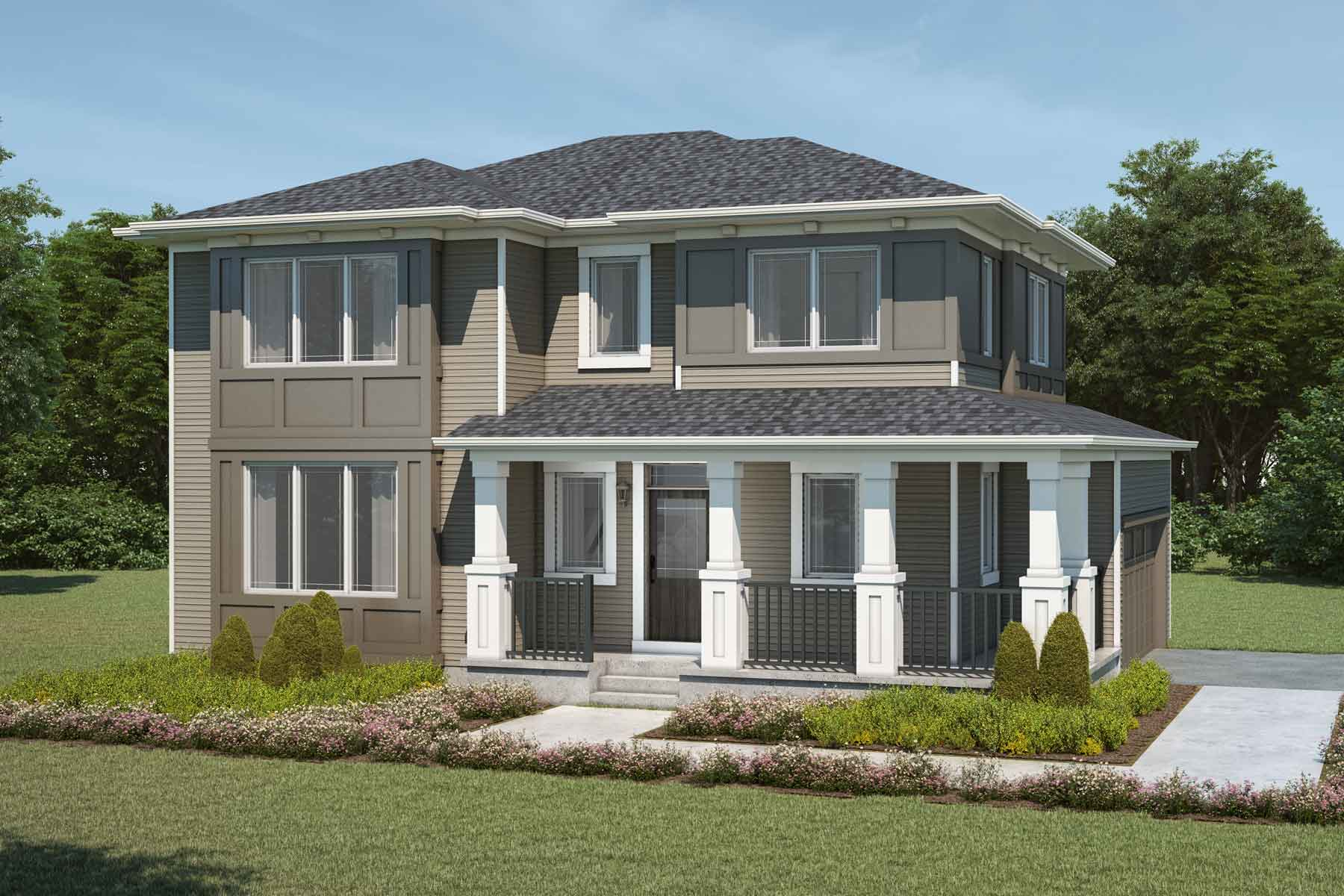 Monarch Plan Elevation Front at Carrington in Calgary Alberta by Mattamy Homes