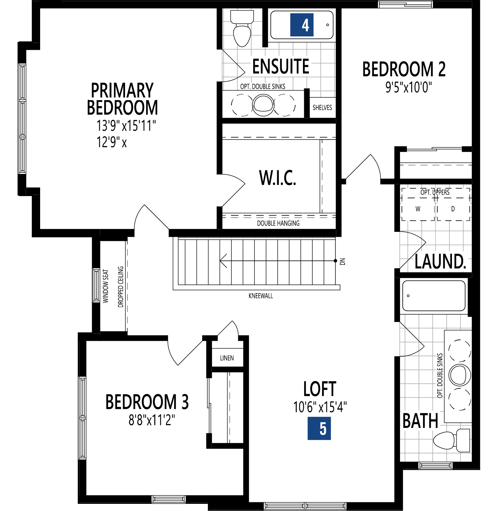 Monarch Plan Floor Plan at Carrington in Calgary Alberta by Mattamy Homes