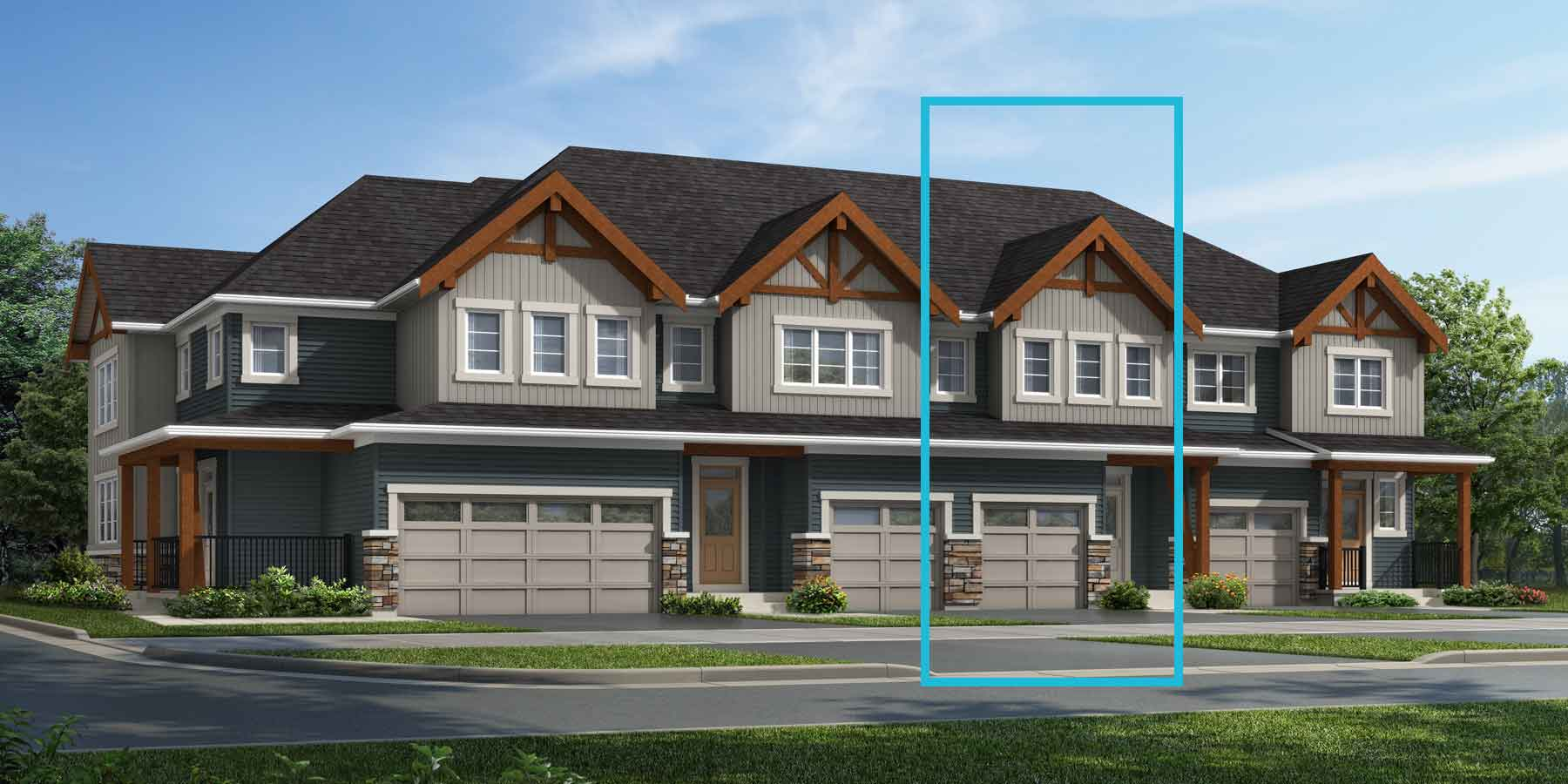 Nova Plan TownHomes at Carrington in Calgary Alberta by Mattamy Homes