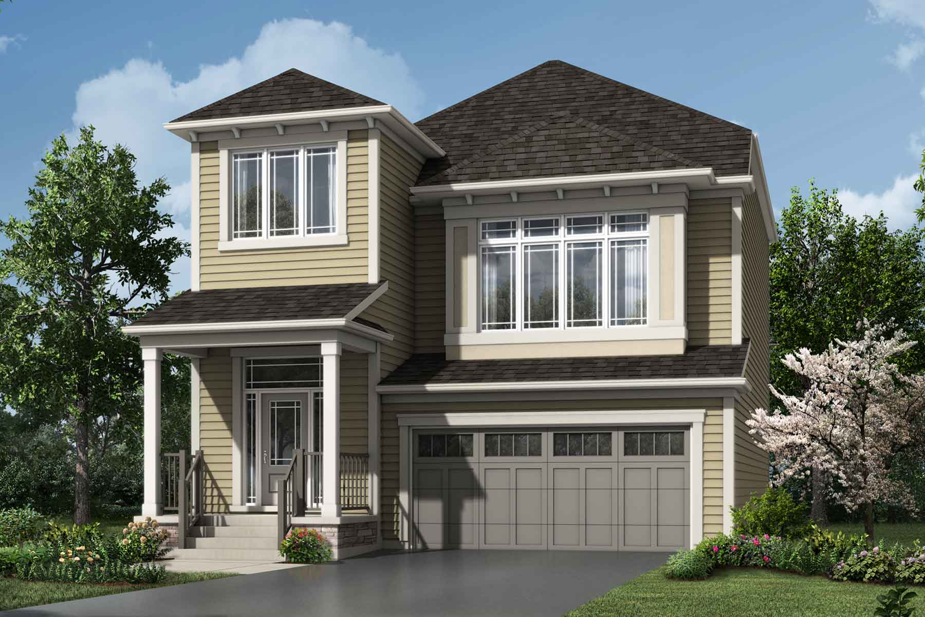 Onyx Plan Elevation Front at Carrington in Calgary Alberta by Mattamy Homes