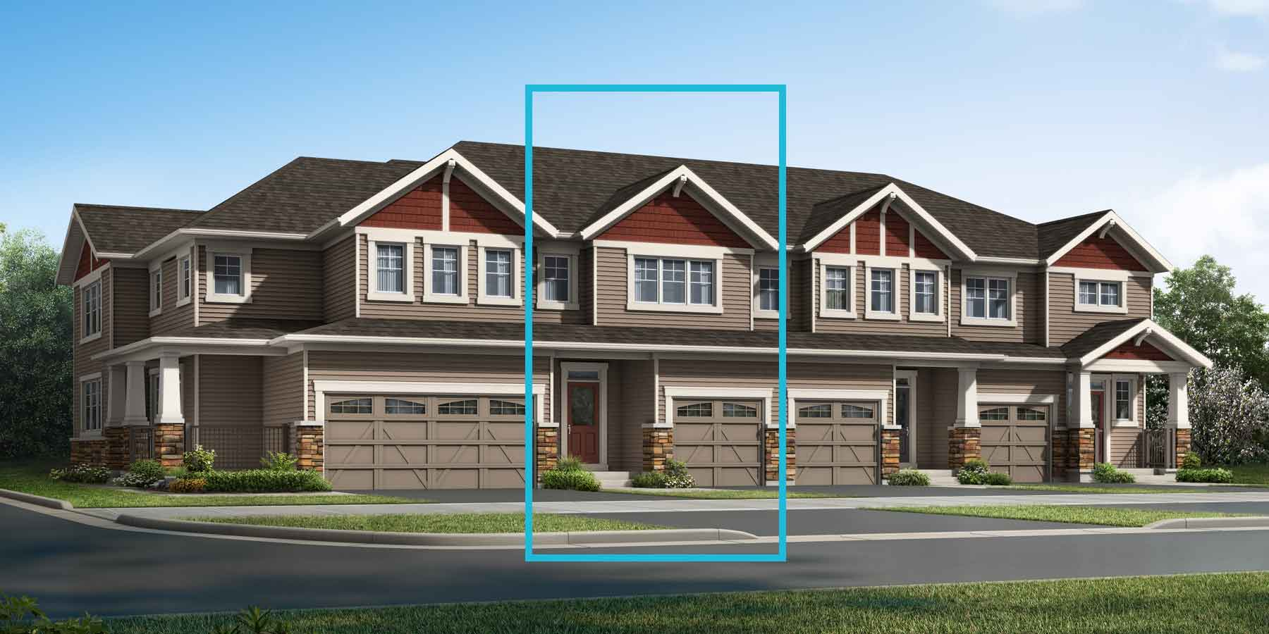 Orien Plan TownHomes at Carrington in Calgary Alberta by Mattamy Homes