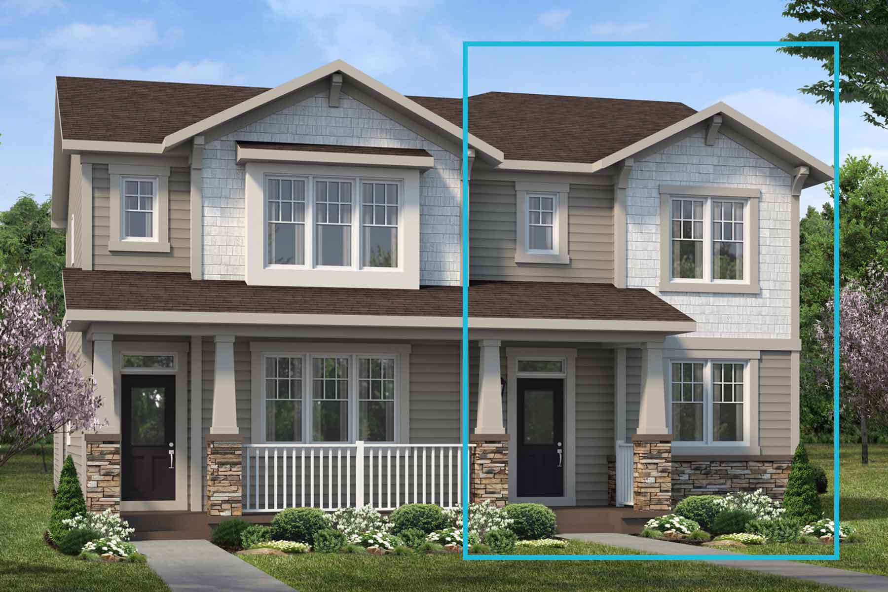 Palliser Plan Elevation Front at Carrington in Calgary Alberta by Mattamy Homes