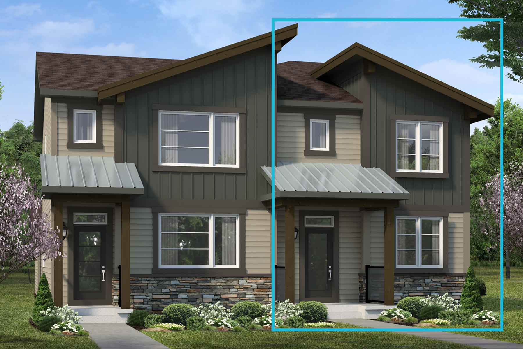 Palliser Plan elevationmountaincontemporary_carrington_palliser_main at Carrington in Calgary Alberta by Mattamy Homes