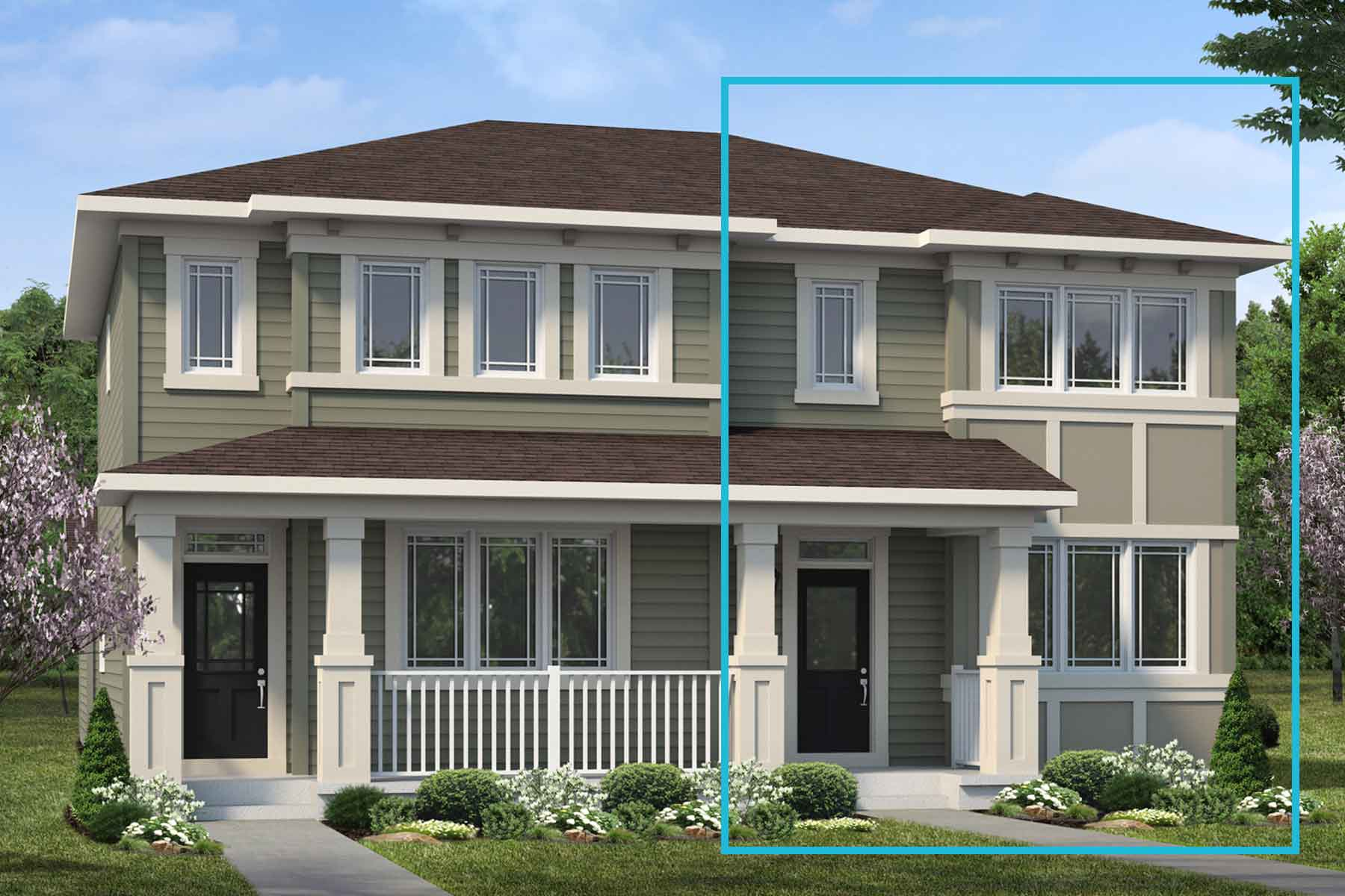 Raymond End Plan elevationprairie_carrington_palliser at Stillwater in Edmonton Alberta by Mattamy Homes