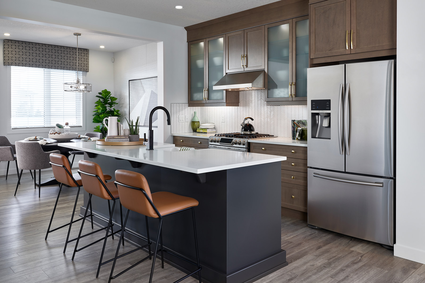 Palliser Plan Kitchen at Carrington in Calgary Alberta by Mattamy Homes