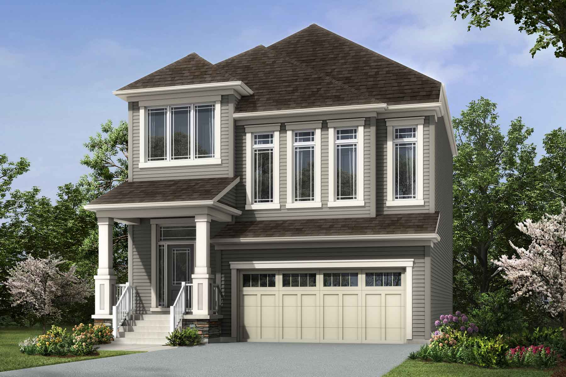 Pearl Plan Elevation Front at Carrington in Calgary Alberta by Mattamy Homes