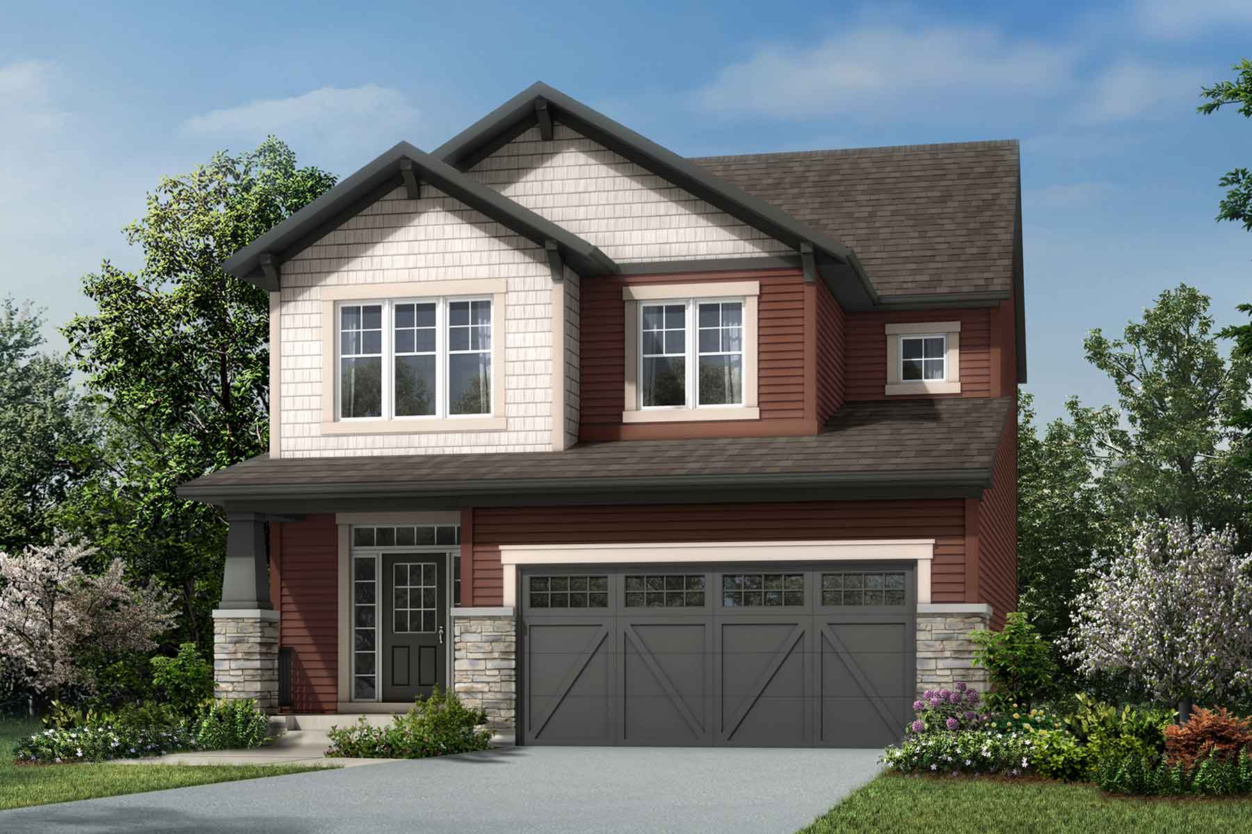 Riedel Plan Elevation Front at Yorkville in Calgary Alberta by Mattamy Homes