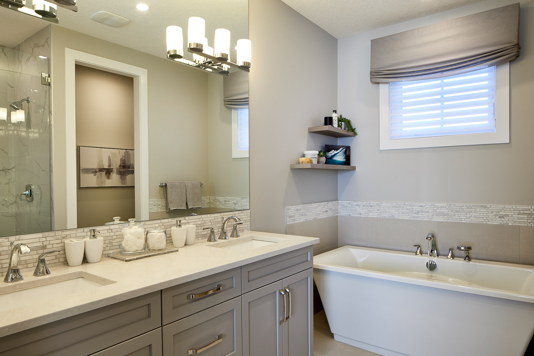 Riedel Plan Bathroom_Master Bath at Yorkville in Calgary Alberta by Mattamy Homes