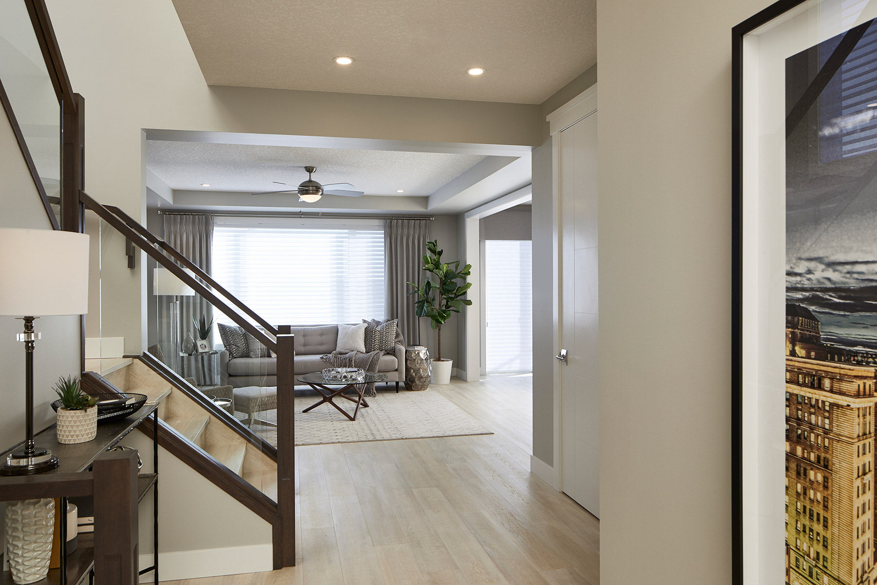 Riedel Plan Hallway at Yorkville in Calgary Alberta by Mattamy Homes