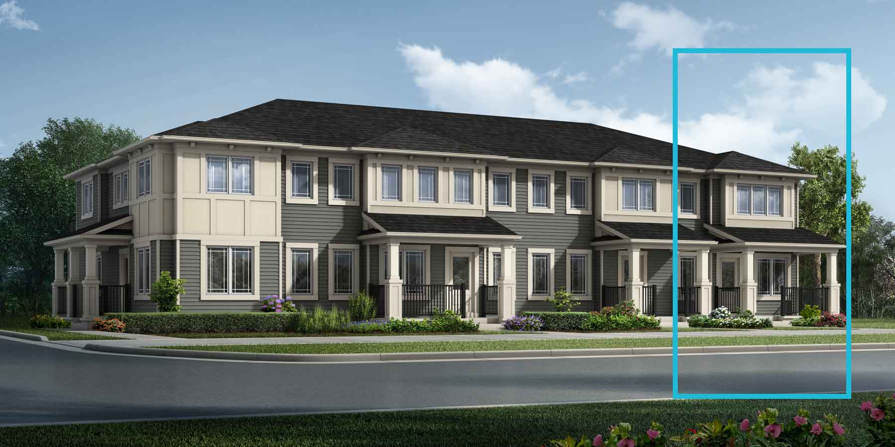Ripley End Plan TownHomes at Carrington in Calgary Alberta by Mattamy Homes