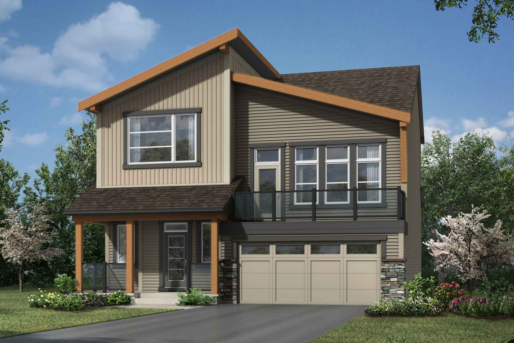 Rutherford Plan Elevation Front at Carrington in Calgary Alberta by Mattamy Homes