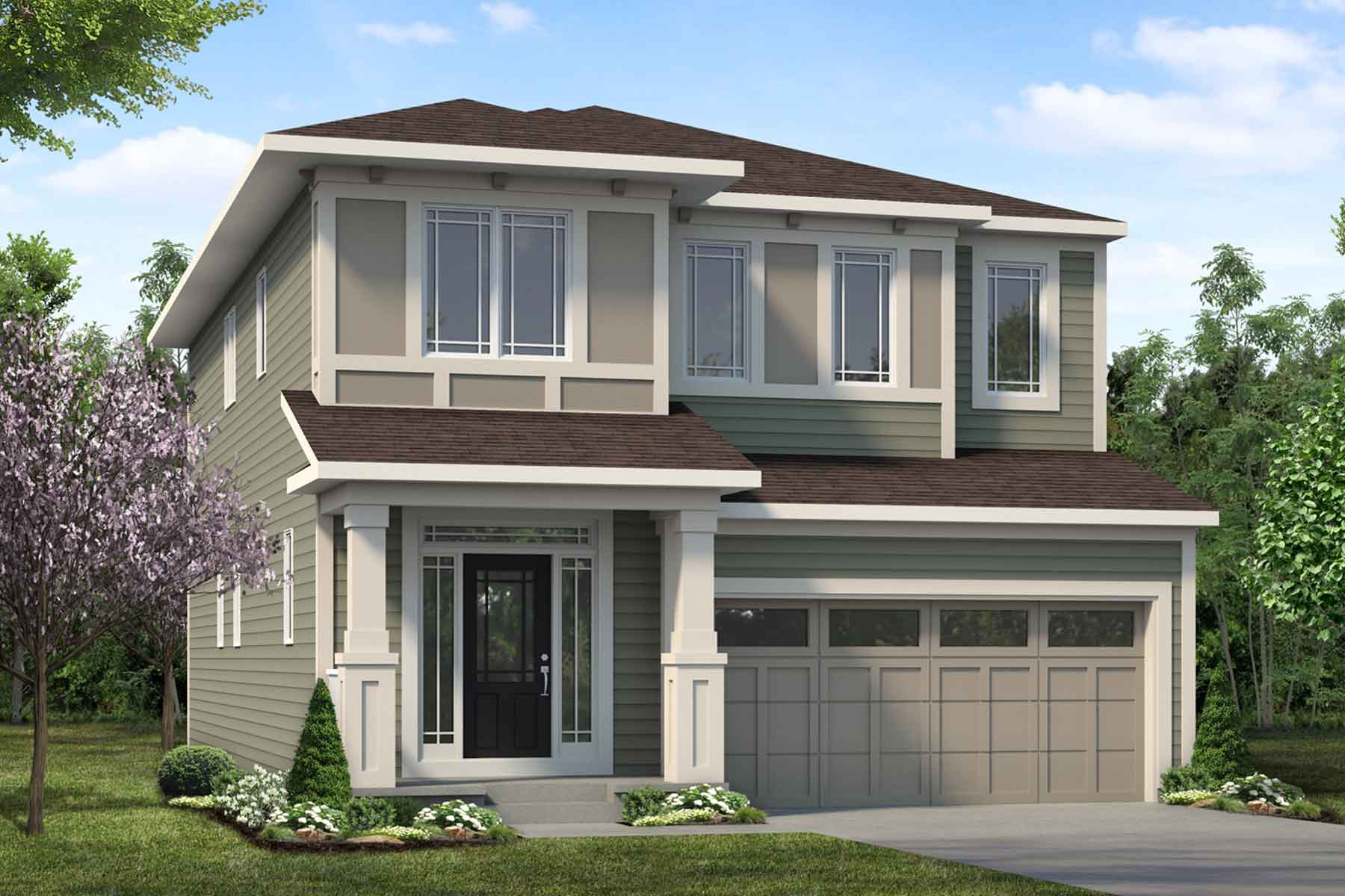 Slate Plan Elevation Front at Carrington in Calgary Alberta by Mattamy Homes