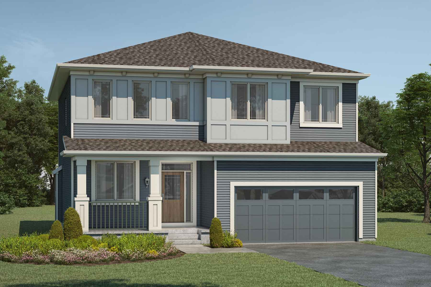 Smythe Plan Elevation Front at Carrington in Calgary Alberta by Mattamy Homes