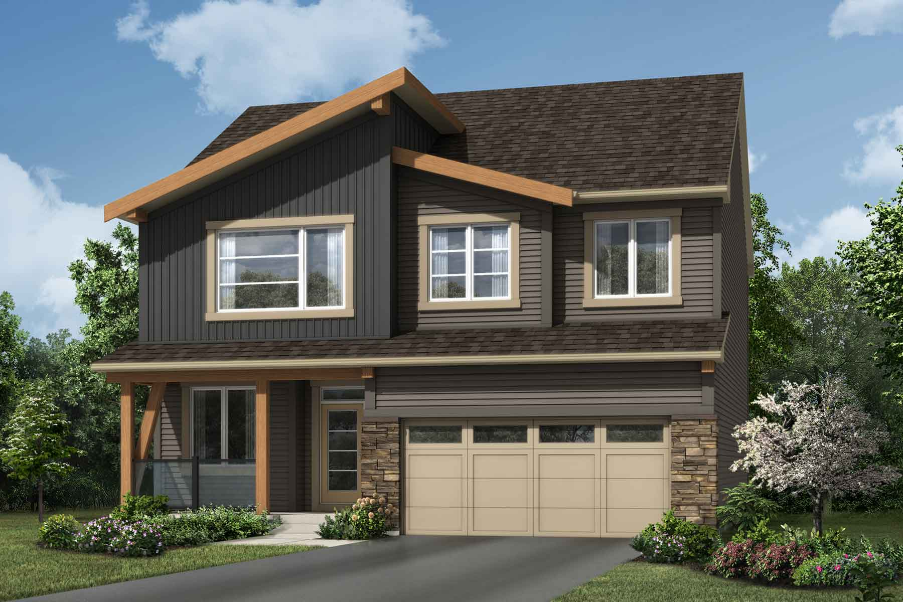Smythe Plan elevationmountaincontemporary_carrington_smythe at Carrington in Calgary Alberta by Mattamy Homes