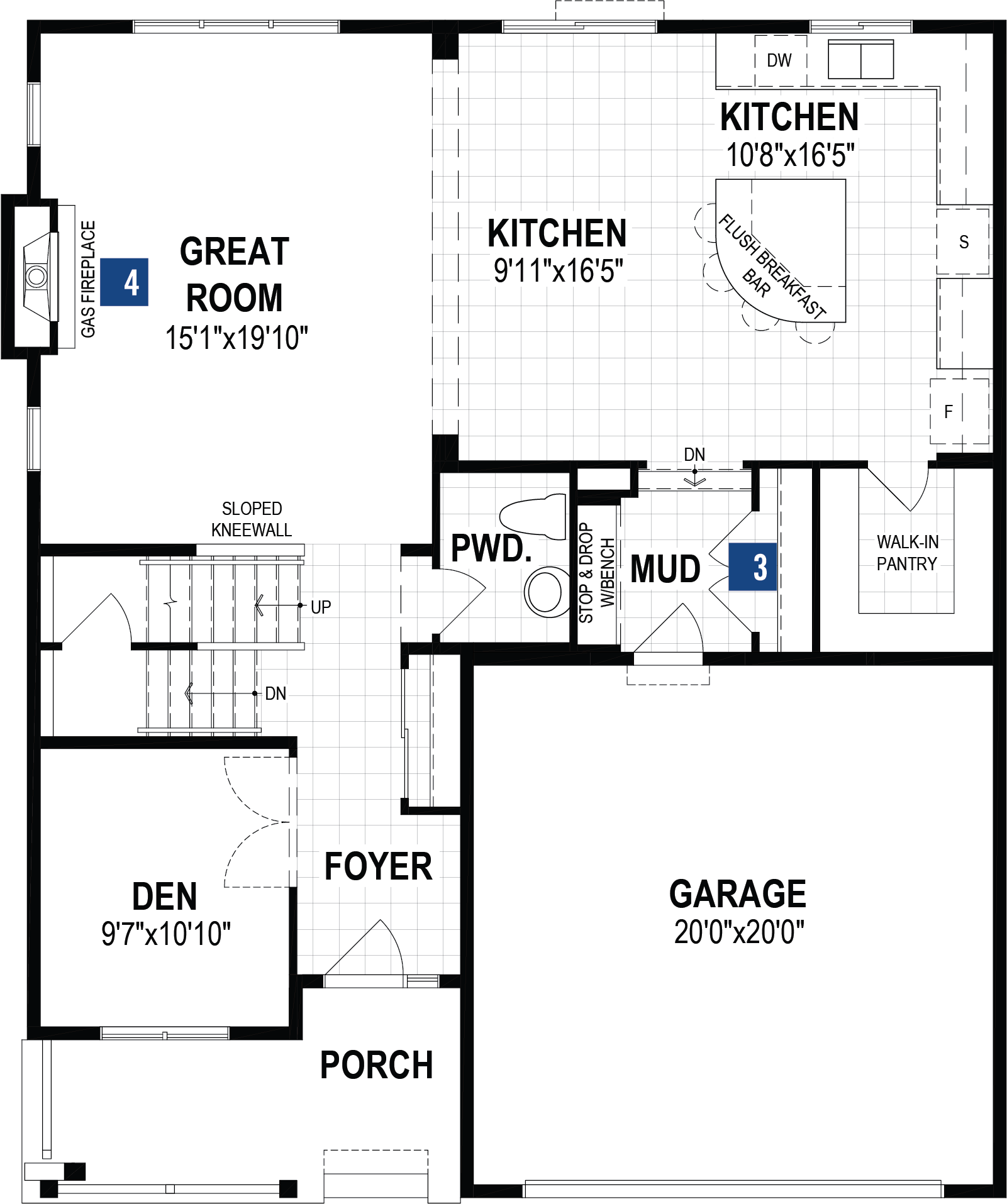 Smythe Plan Floor Plan at Carrington in Calgary Alberta by Mattamy Homes