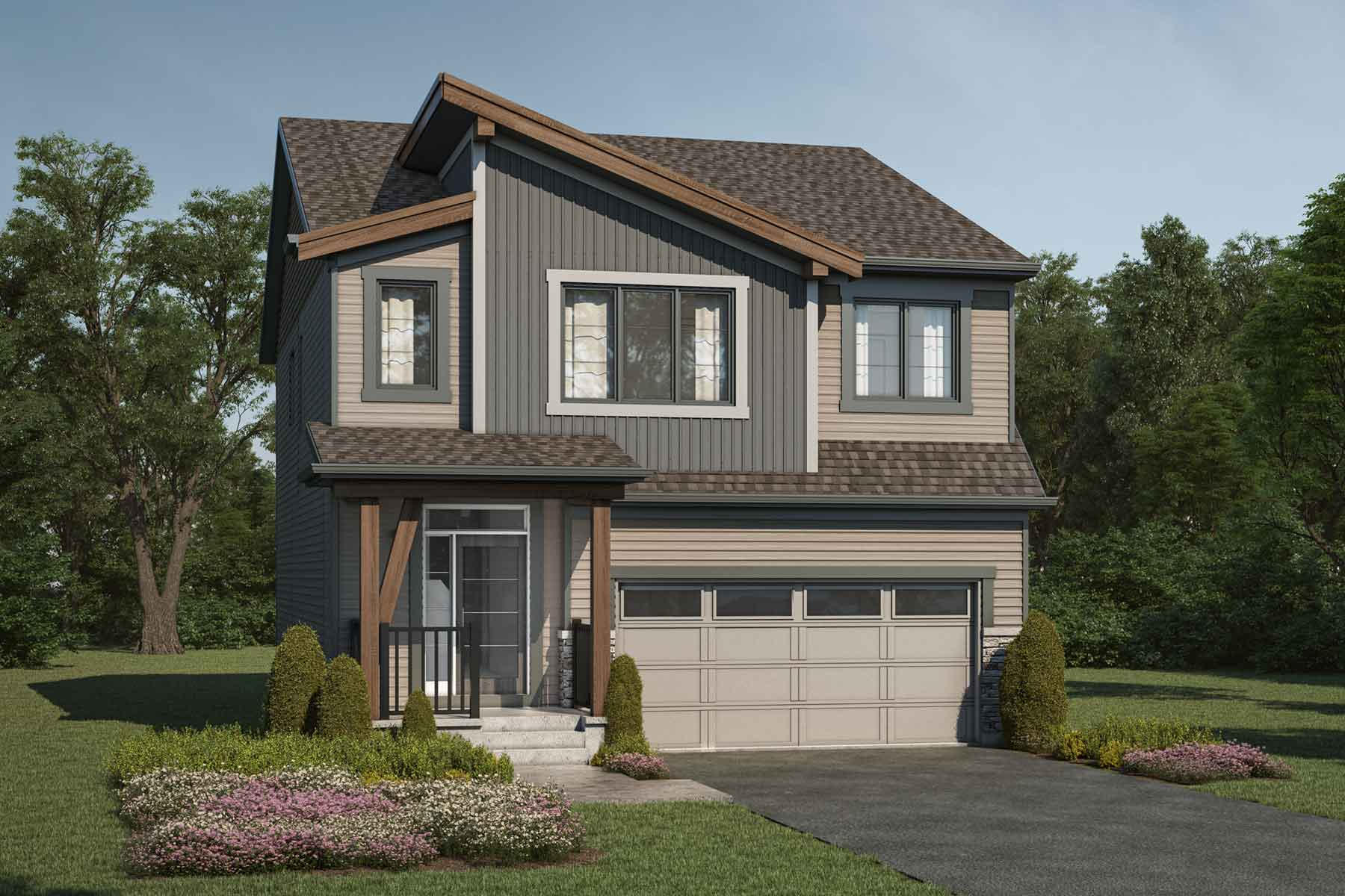 Whistler Plan Elevation Front at Carrington in Calgary Alberta by Mattamy Homes