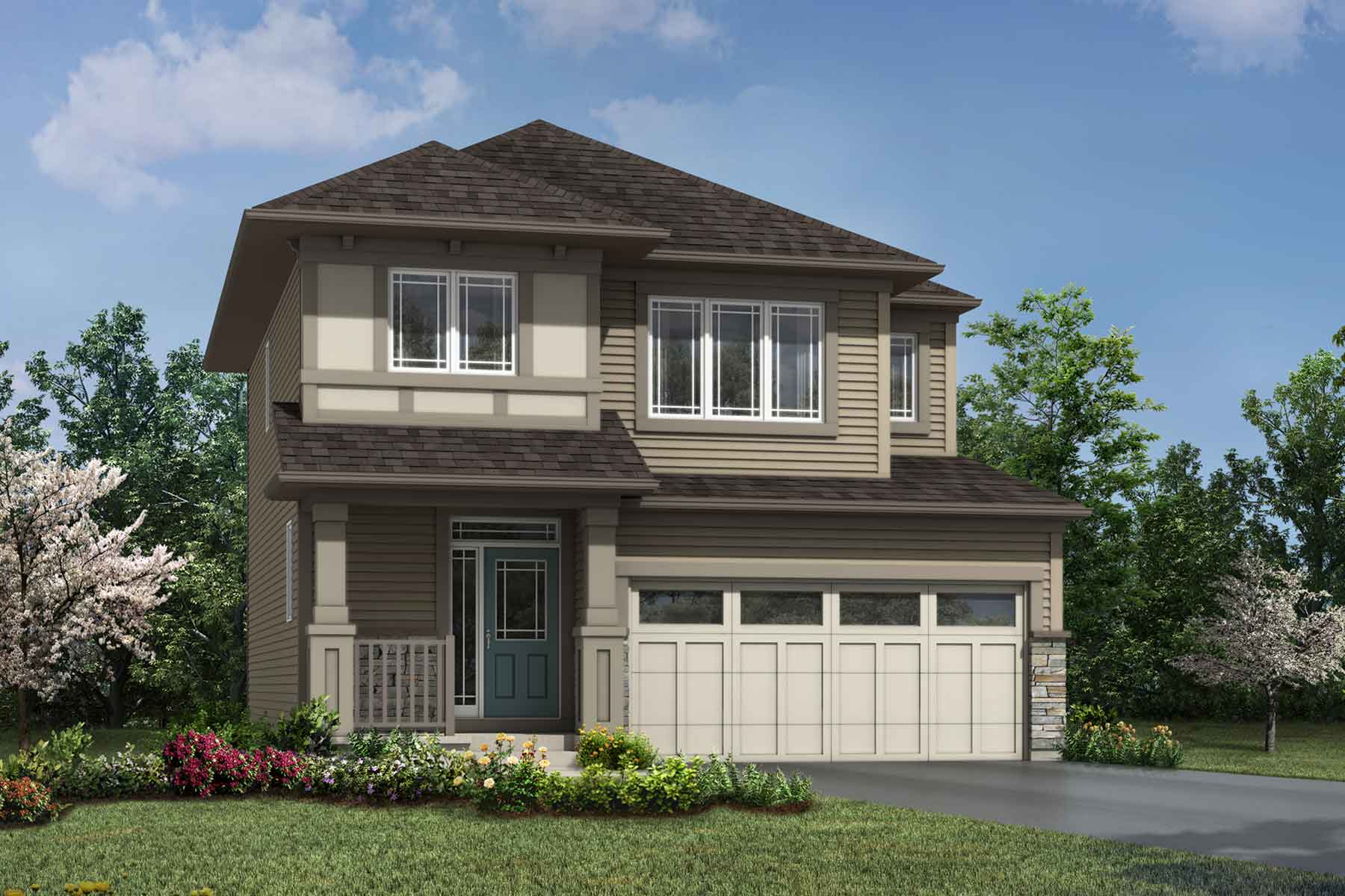 Yamnuska Plan Elevation Front at Carrington in Calgary Alberta by Mattamy Homes