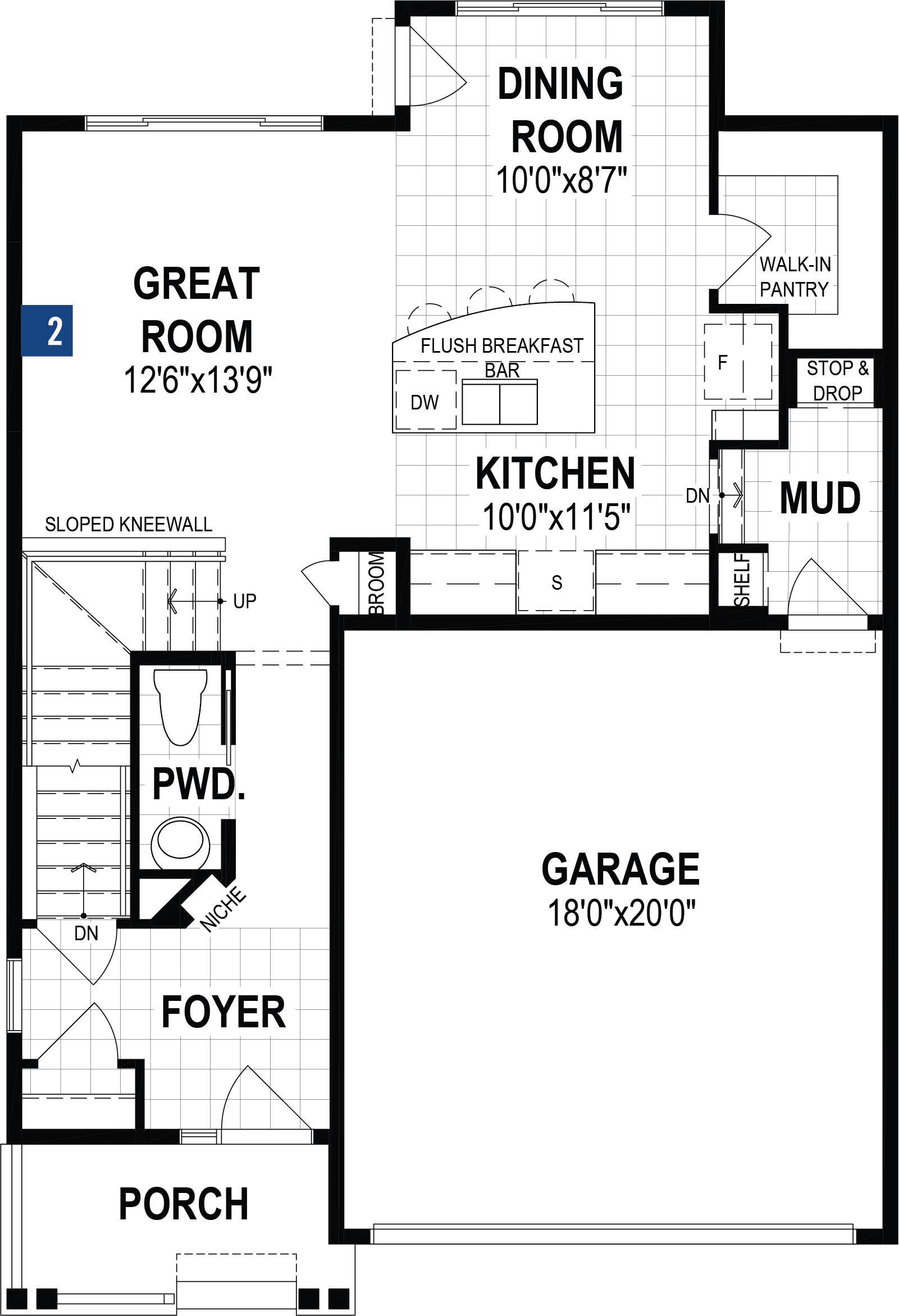 Yamnuska Plan Floor Plan at Carrington in Calgary Alberta by Mattamy Homes