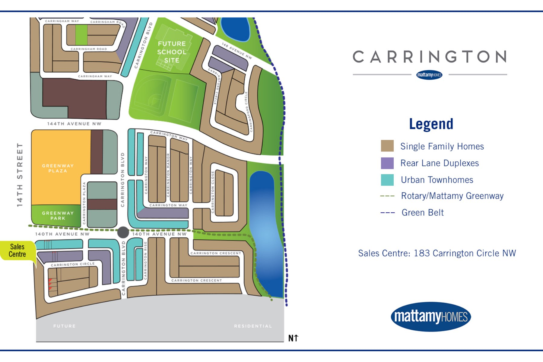 The Enclave In Carrington Lot Map in Calgary Alberta by Mattamy Homes