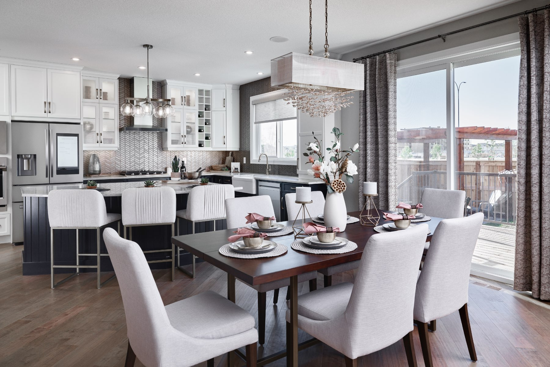 Cline Plan Kitchen at Cityscape in Calgary Alberta by Mattamy Homes