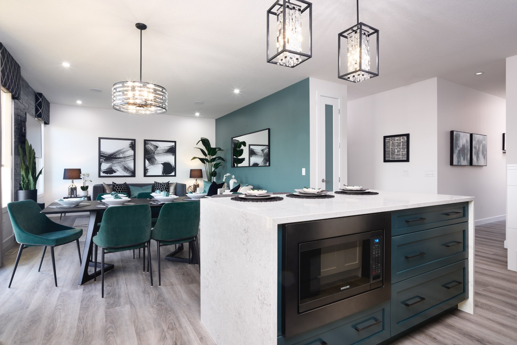 Fairview Plan Kitchen at Cityscape in Calgary Alberta by Mattamy Homes