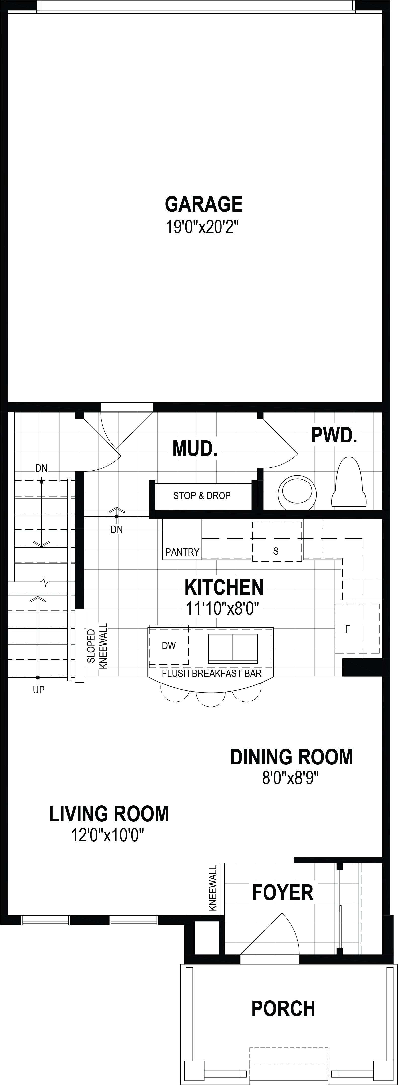 Annex Plan Floor Plan at Cityscape in Calgary Alberta by Mattamy Homes