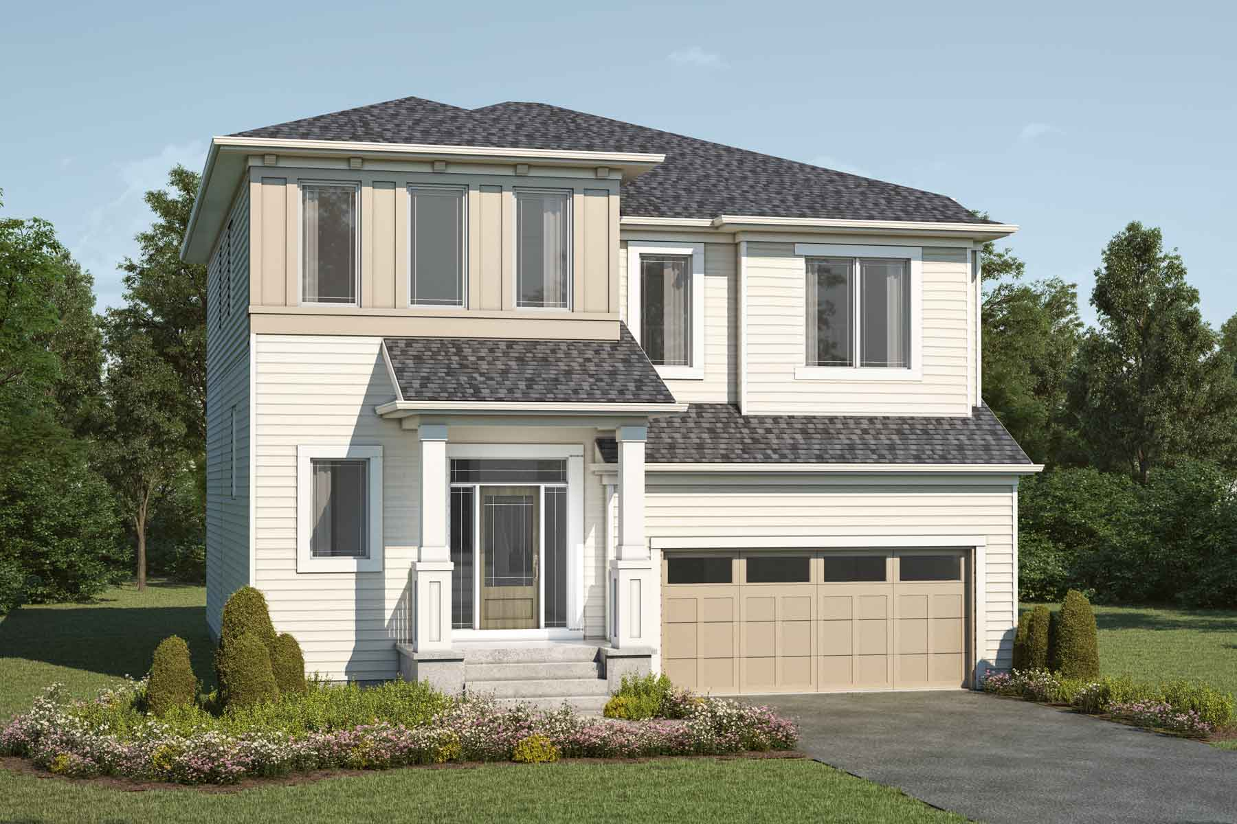 Armstrong Plan Elevation Front at Cityscape in Calgary Alberta by Mattamy Homes