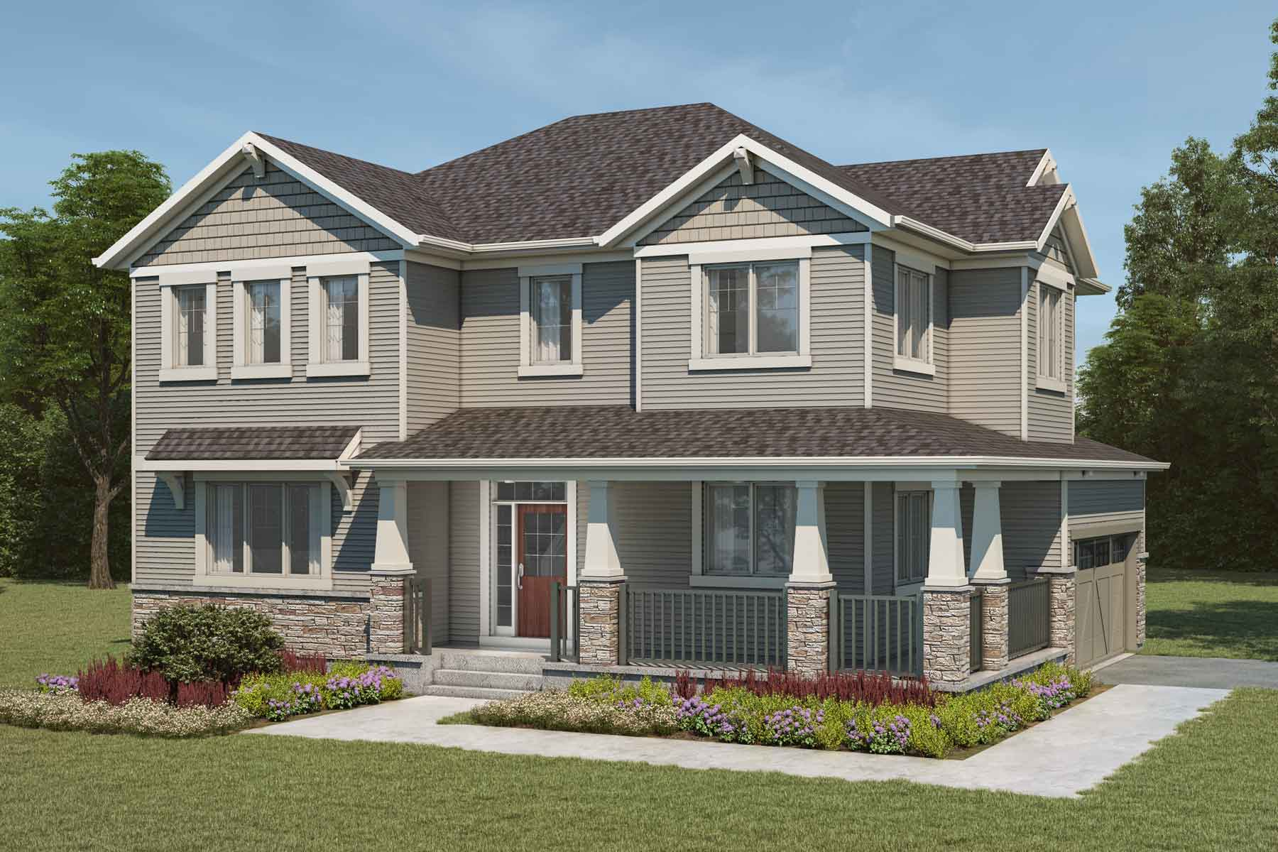 Borgeau Plan Elevation Front at Cityscape in Calgary Alberta by Mattamy Homes