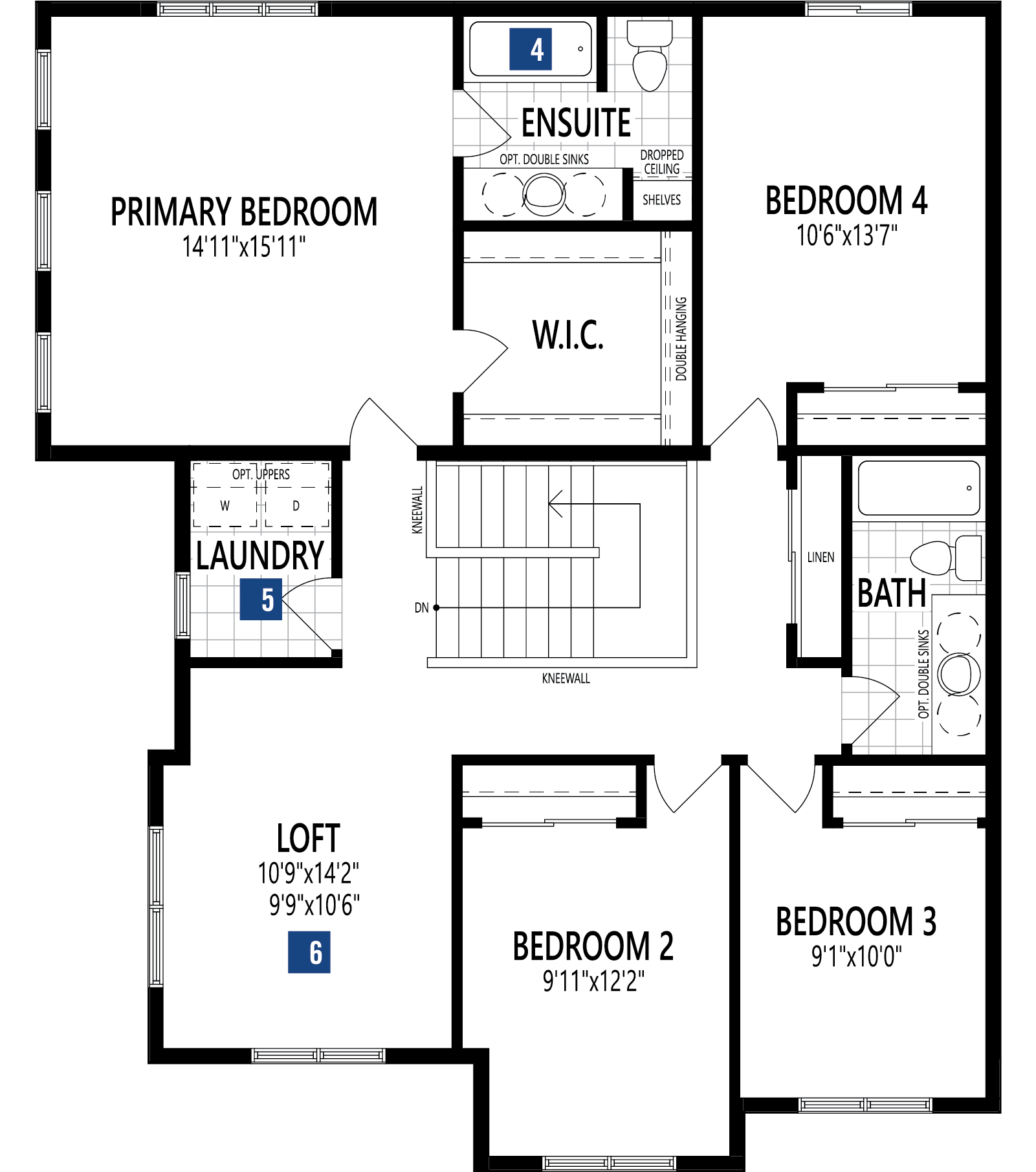 Borgeau Plan Floor Plan at Cityscape in Calgary Alberta by Mattamy Homes
