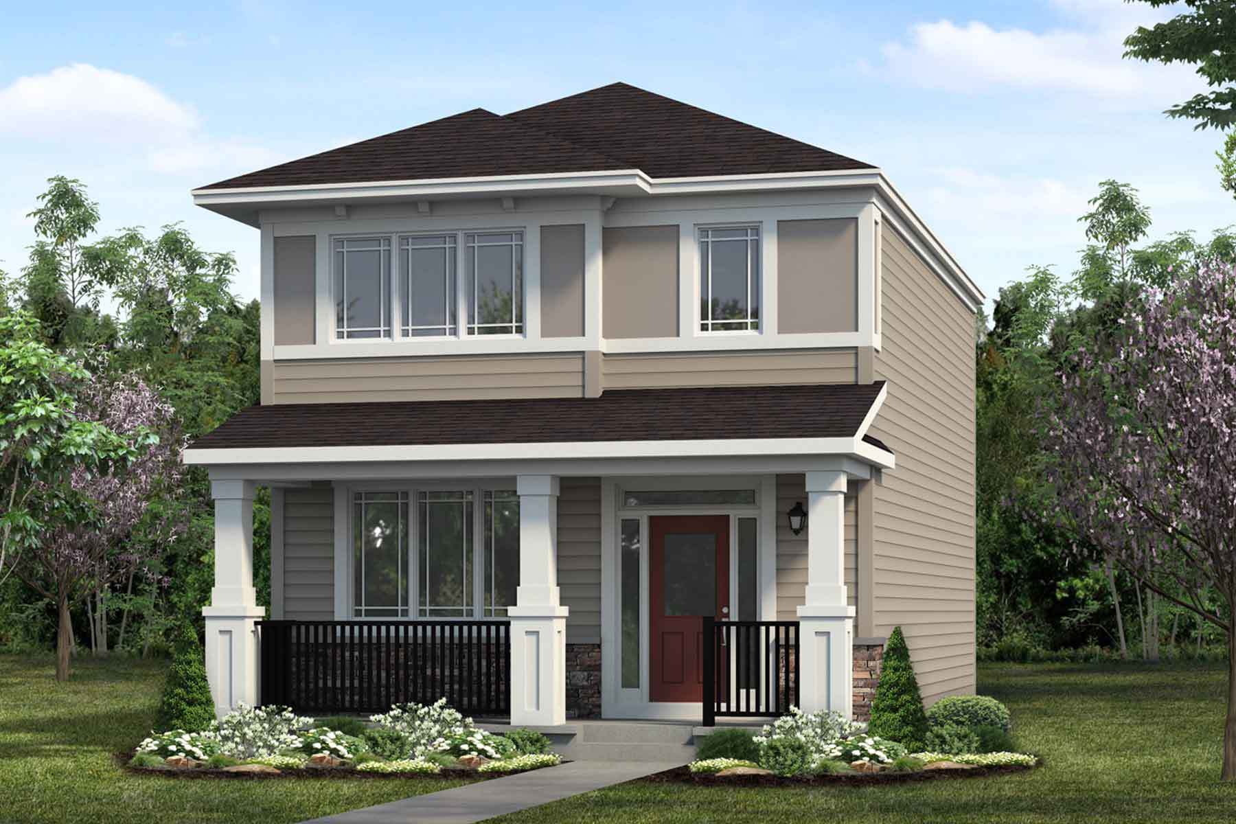Caspian Plan Elevation Front at Cityscape in Calgary Alberta by Mattamy Homes