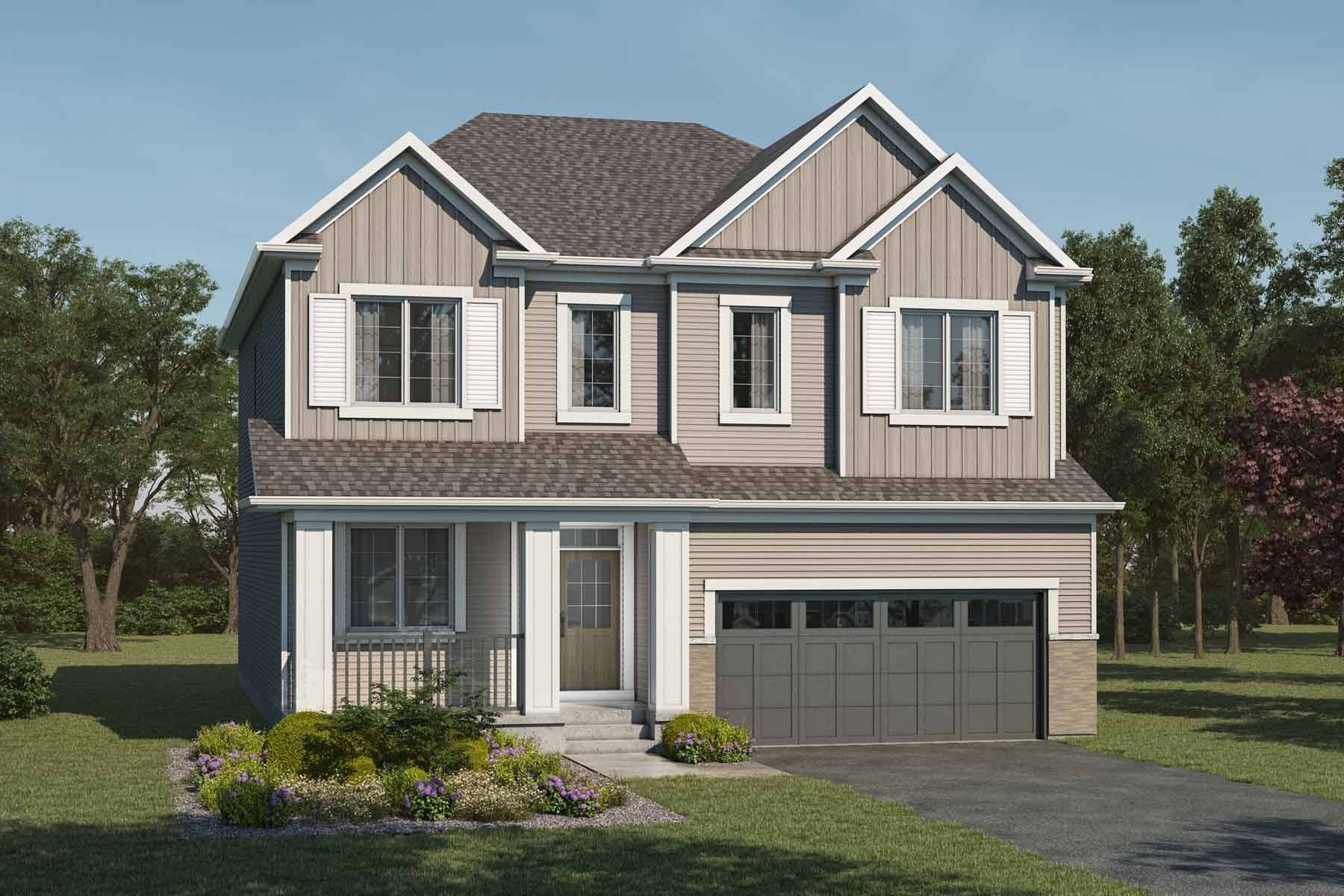 Cline Plan Elevation Front at Cityscape in Calgary Alberta by Mattamy Homes