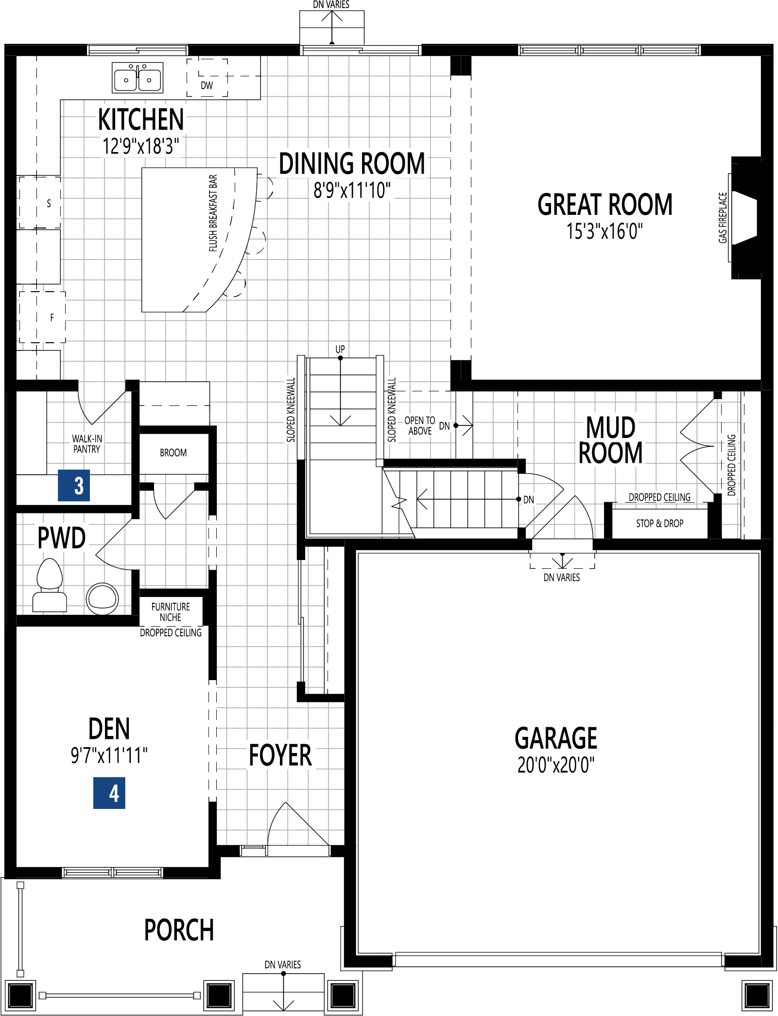Cline Plan Floor Plan at Cityscape in Calgary Alberta by Mattamy Homes