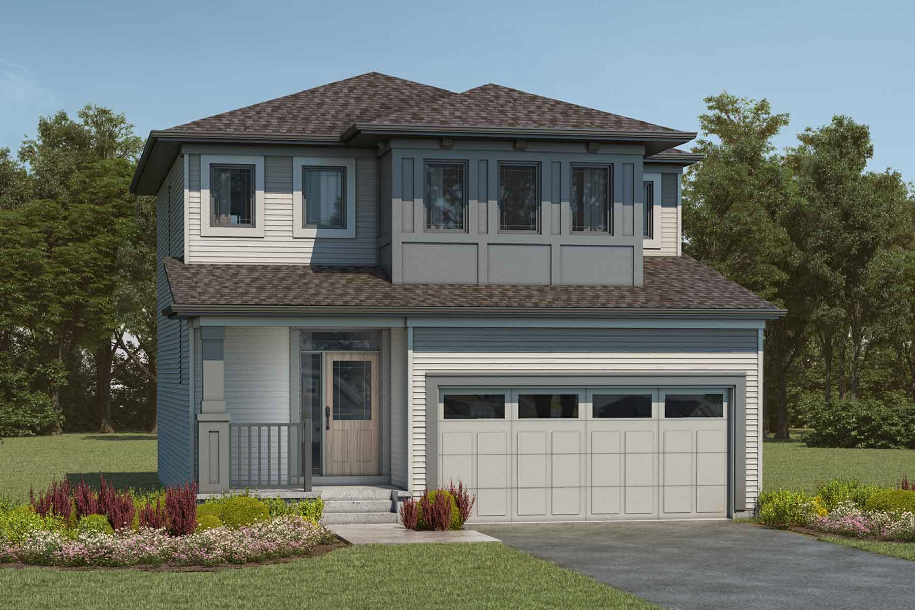 Cypress Plan Elevation Front at Cityscape in Calgary Alberta by Mattamy Homes