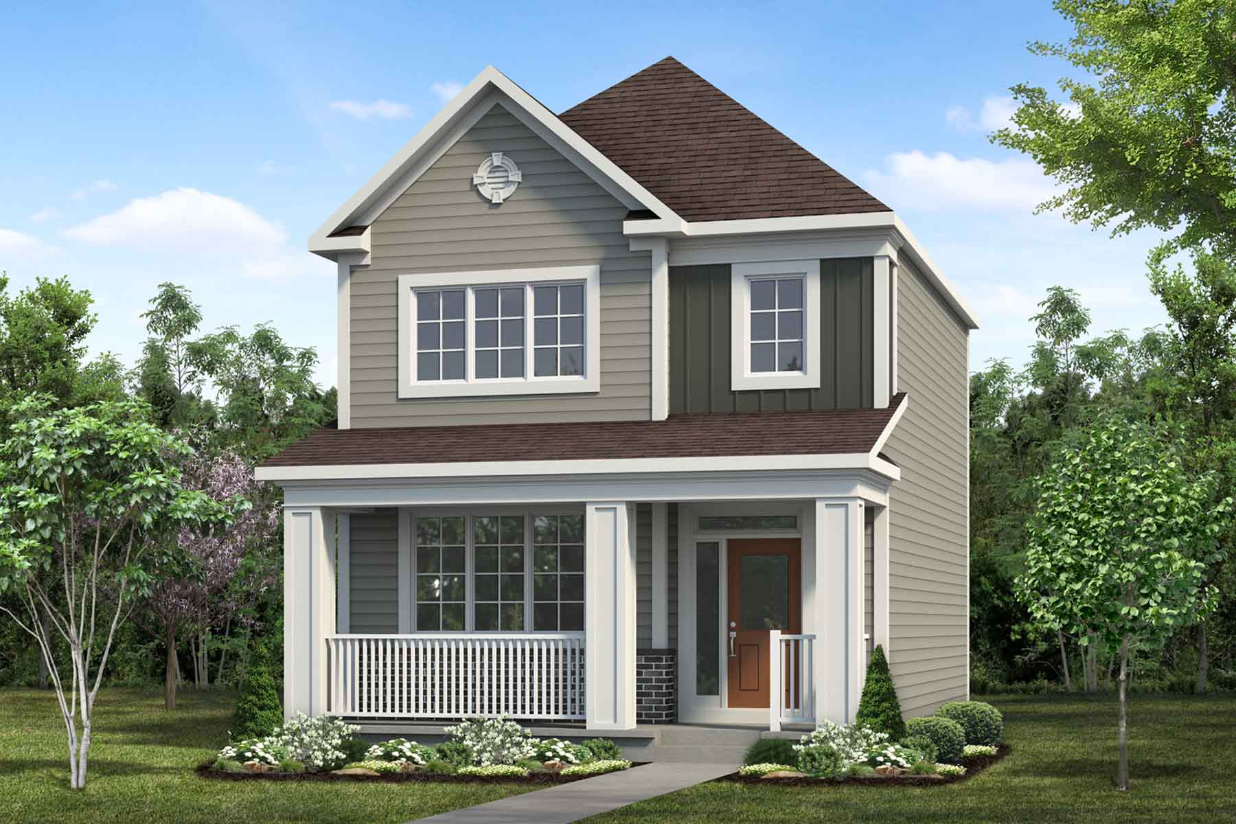 Darya Plan Elevation Front at Cityscape in Calgary Alberta by Mattamy Homes
