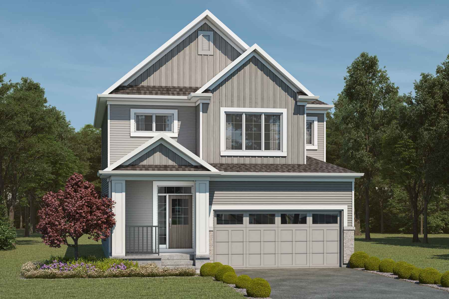 Fairview Plan Elevation Front at Cityscape in Calgary Alberta by Mattamy Homes