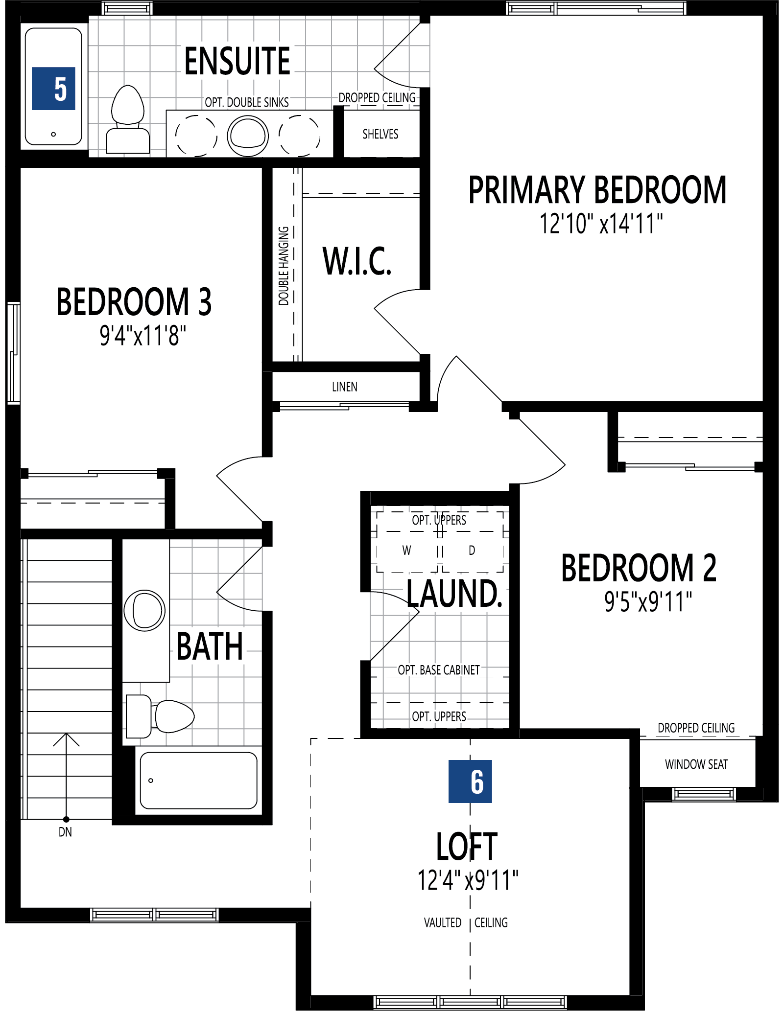 Fairview Plan Floor Plan at Cityscape in Calgary Alberta by Mattamy Homes